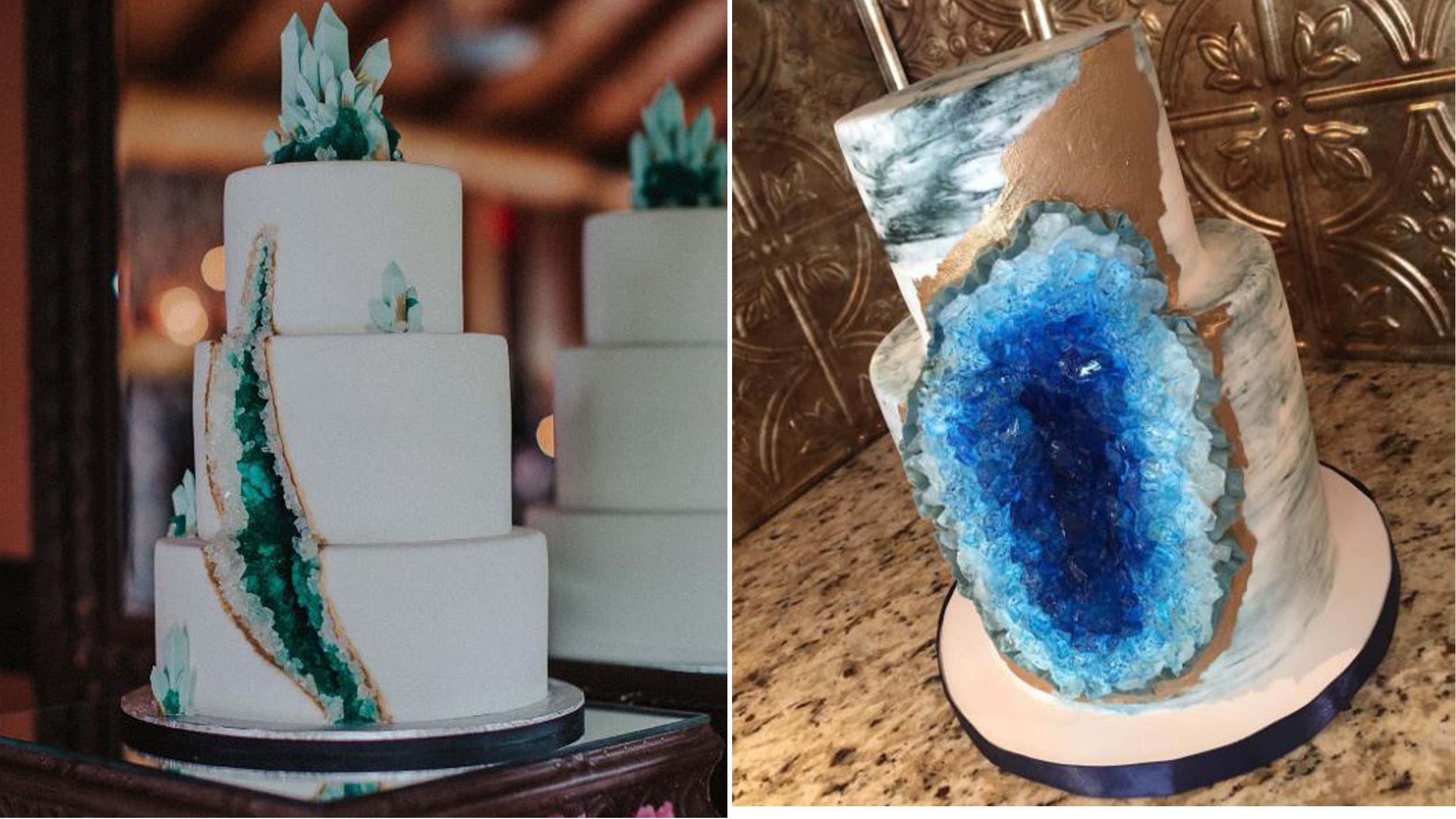 Gemstone Wedding Cake