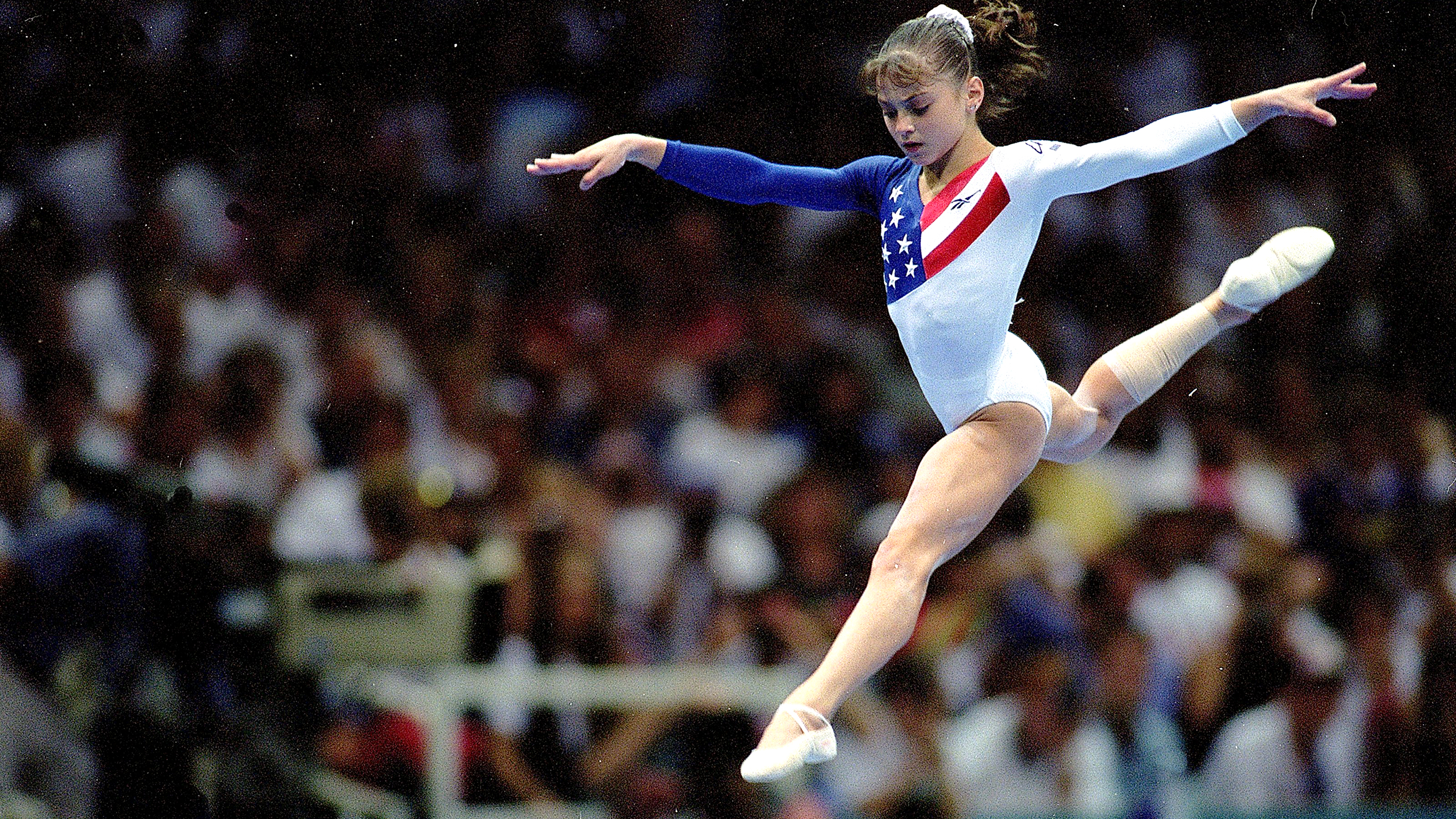 a look at five facts about dominique moceanu Dominique moceanu reflects on the 20th anniversary of the 1996 summer olympics and her magnificent 7 teammates, who won the first olympic gold medal in us women's gymnastics history.