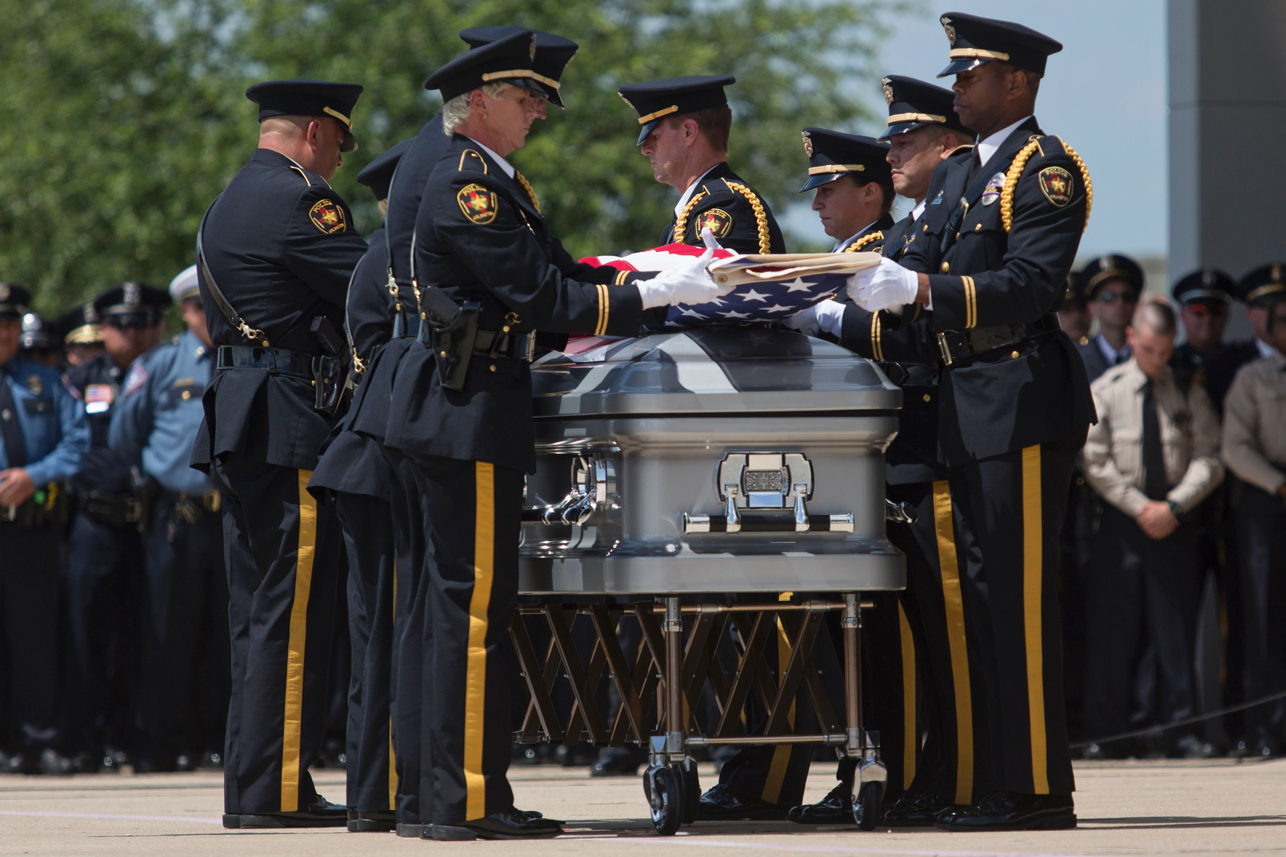 funerals begin for slain dallas police officers in texas