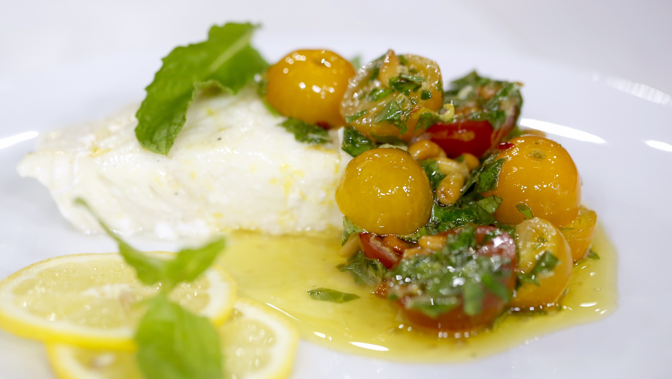 Grilled Halibut with Cherry Tomato Chimichurri - TODAY.com