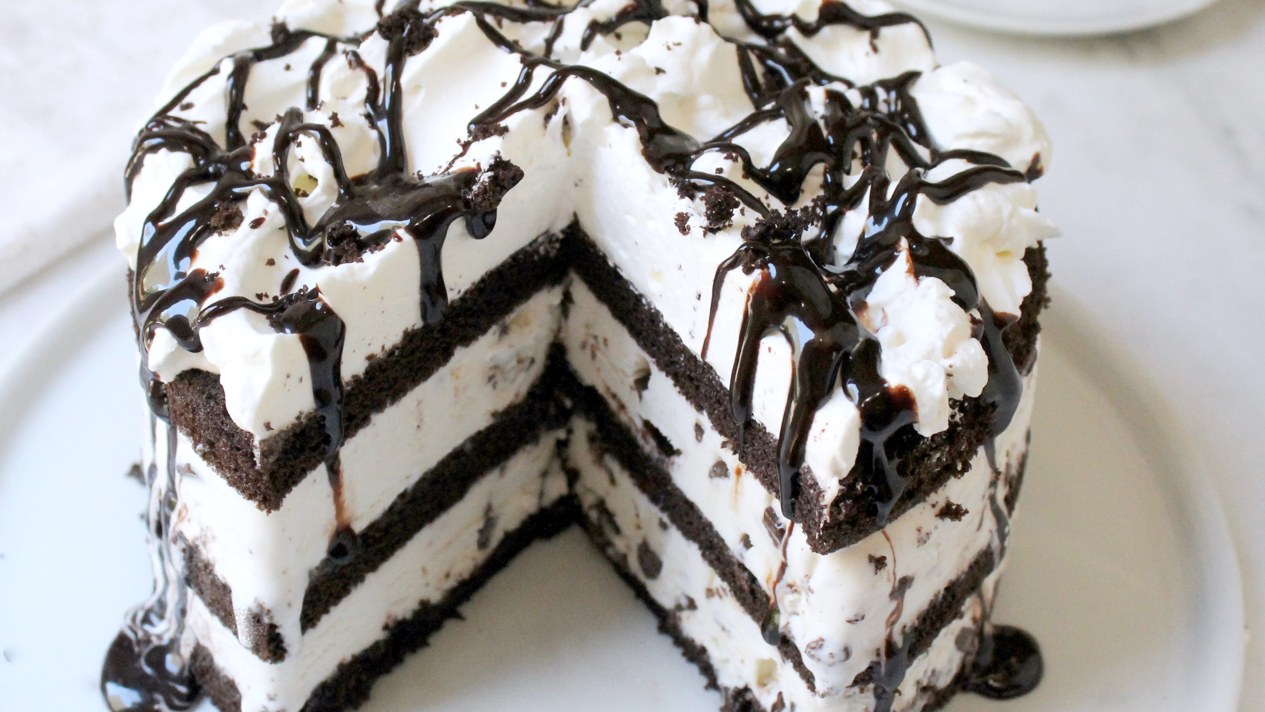 Mint Chocolate Ice Cream Cake Recipe Easy