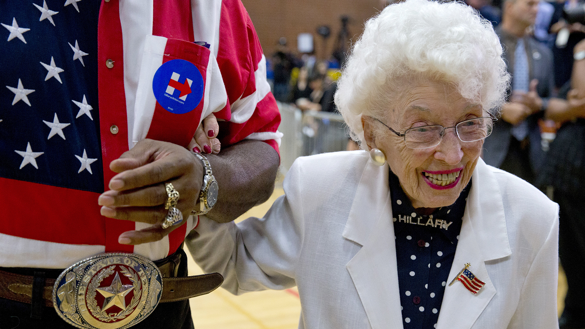 102-year-old woman, born before women could vote