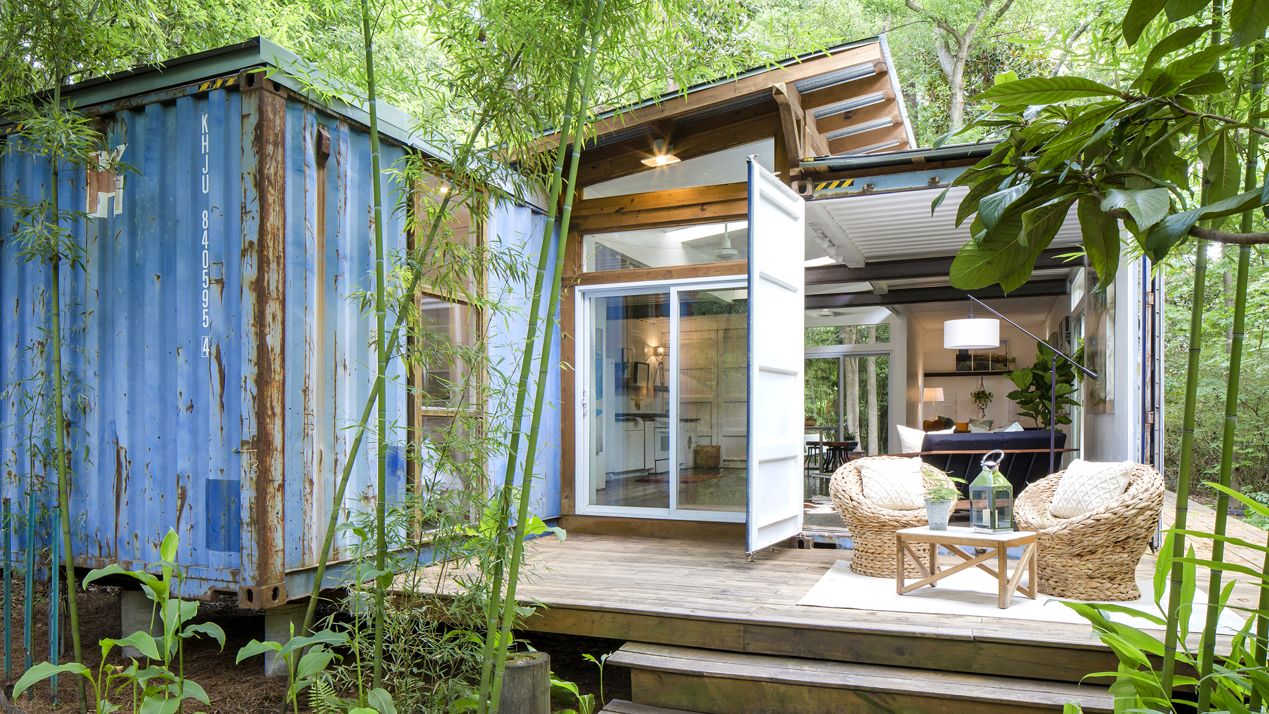 savannah georgia shipping container home. Black Bedroom Furniture Sets. Home Design Ideas