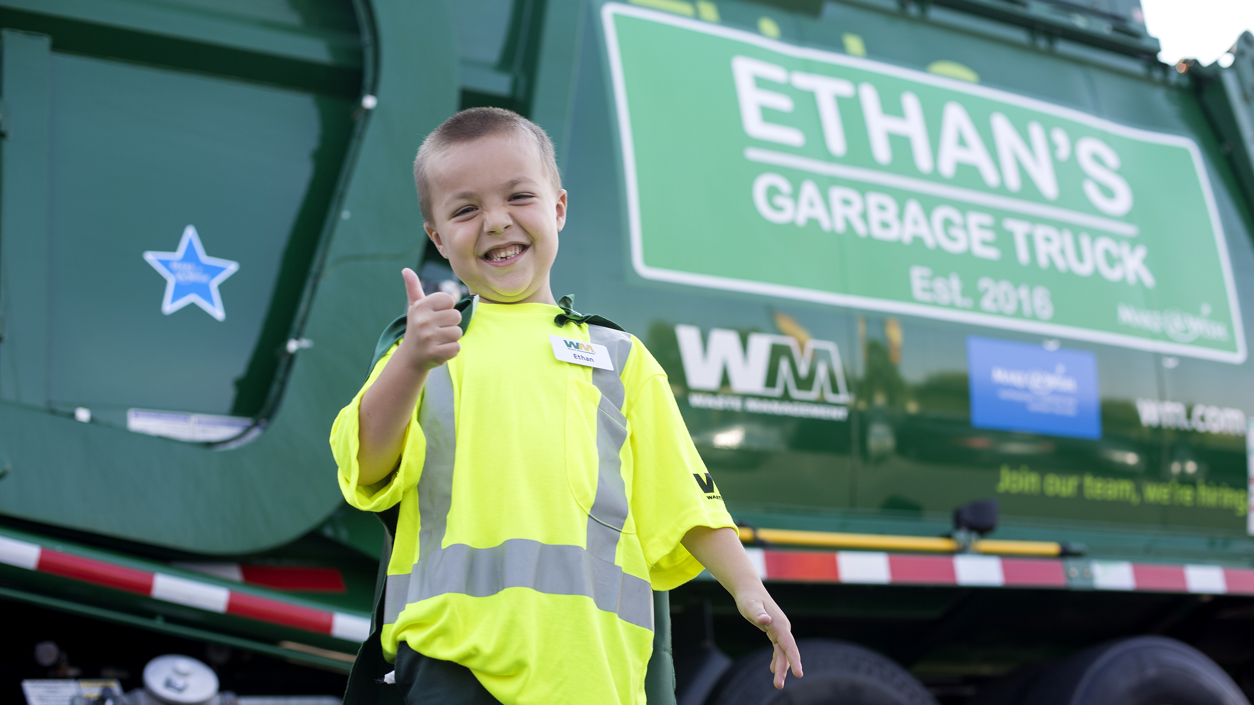 Boy With Cystic Fibrosis Becomes Garbageman For A Day
