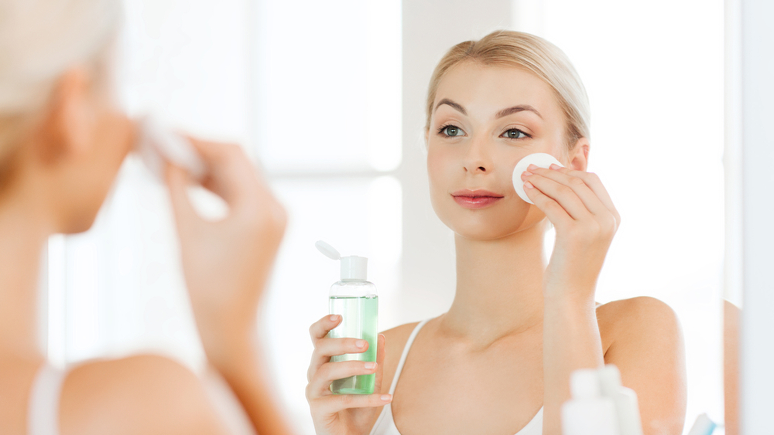 Color facial product woman