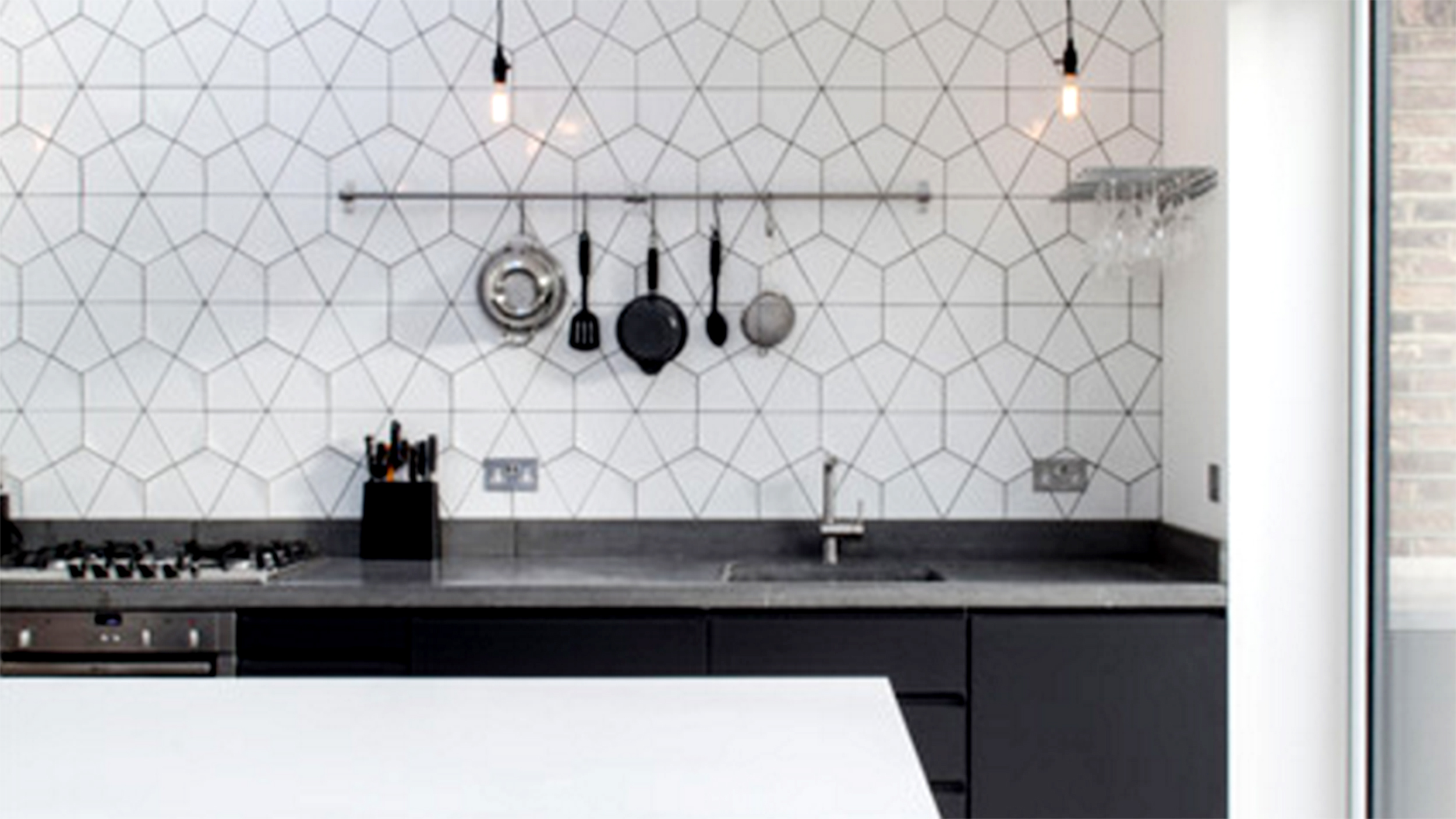 10 unique ways to use hex tiles in your home