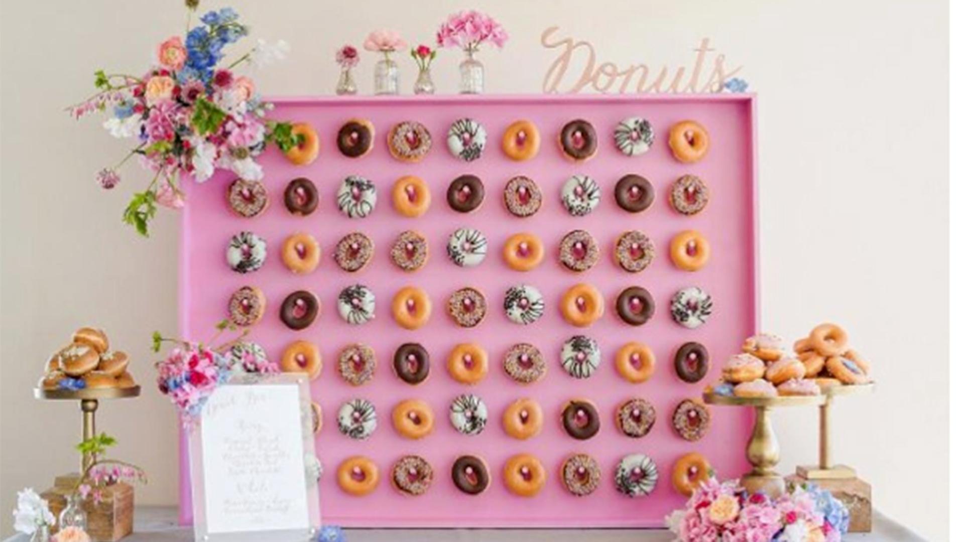 Doughnut walls?! 17 wedding food trends we're loving - TODAY.com: http://www.today.com/food/doughnut-walls-17-wedding-food-trends-we-re-loving-t102195