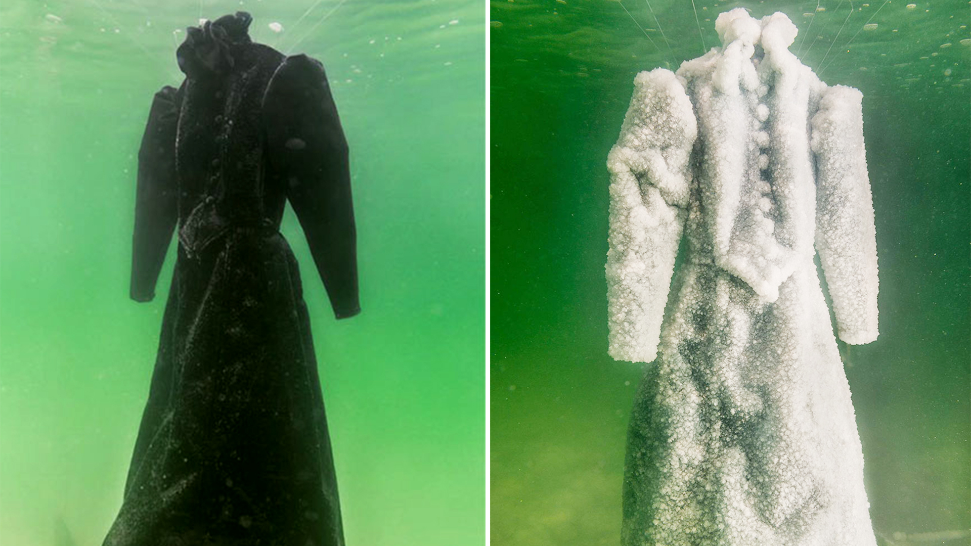 39 Salt Dress 39 Left In The Dead Sea Turns Into Crystal
