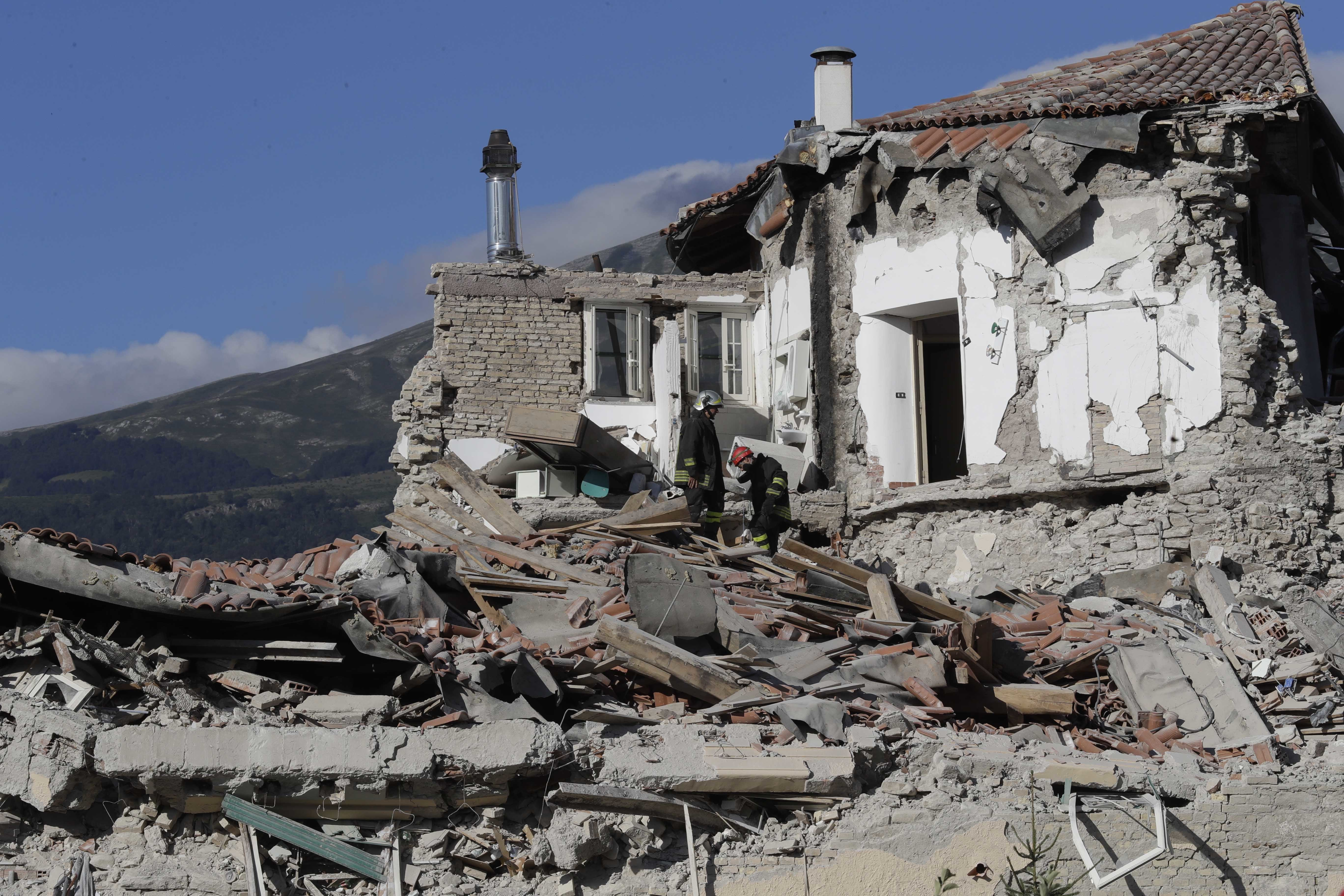 Why did Amatrice suffer Earthquake in the center of Italy