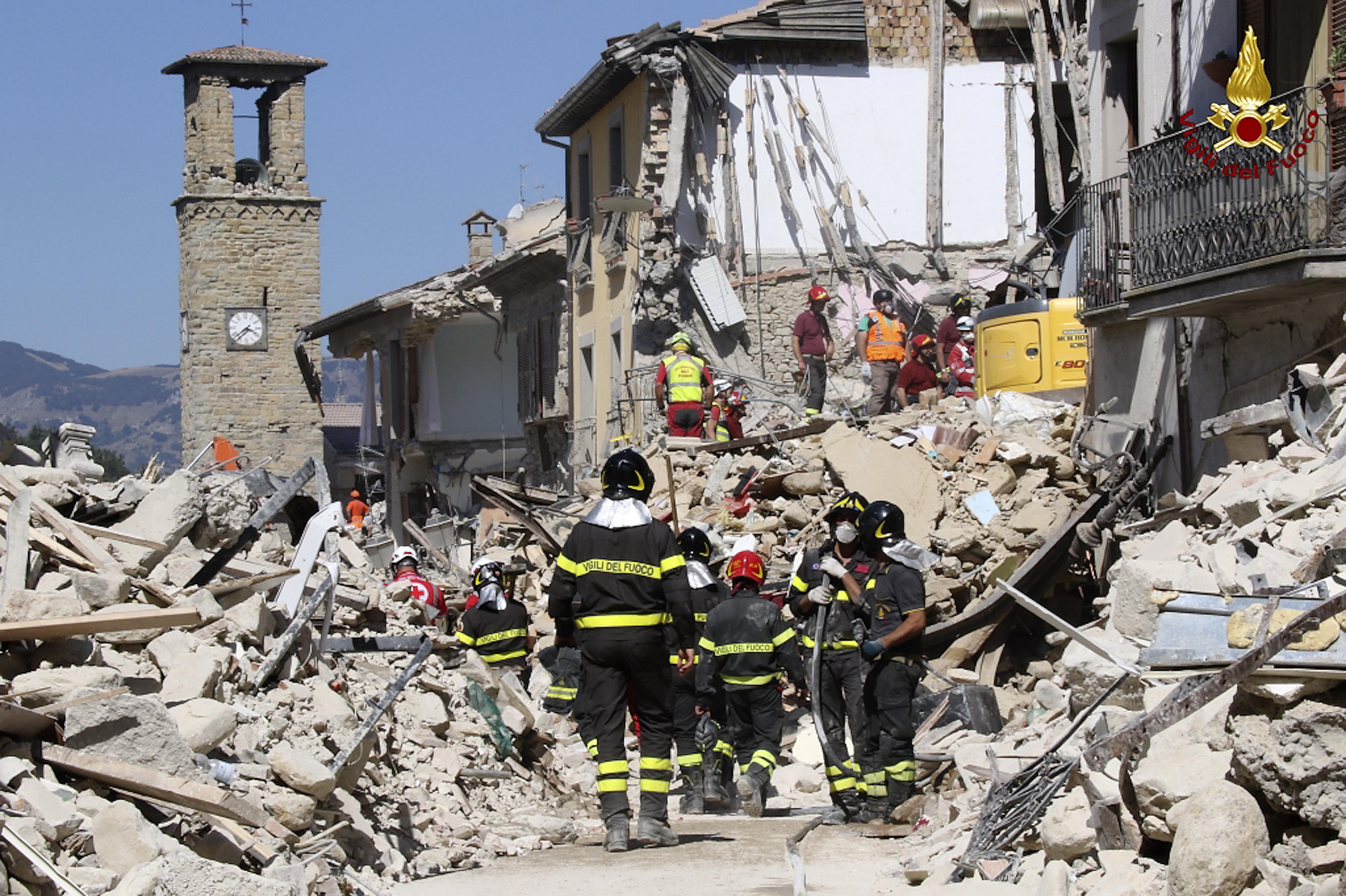 IMAGE: Amatrice, Italy, earthquake damage
