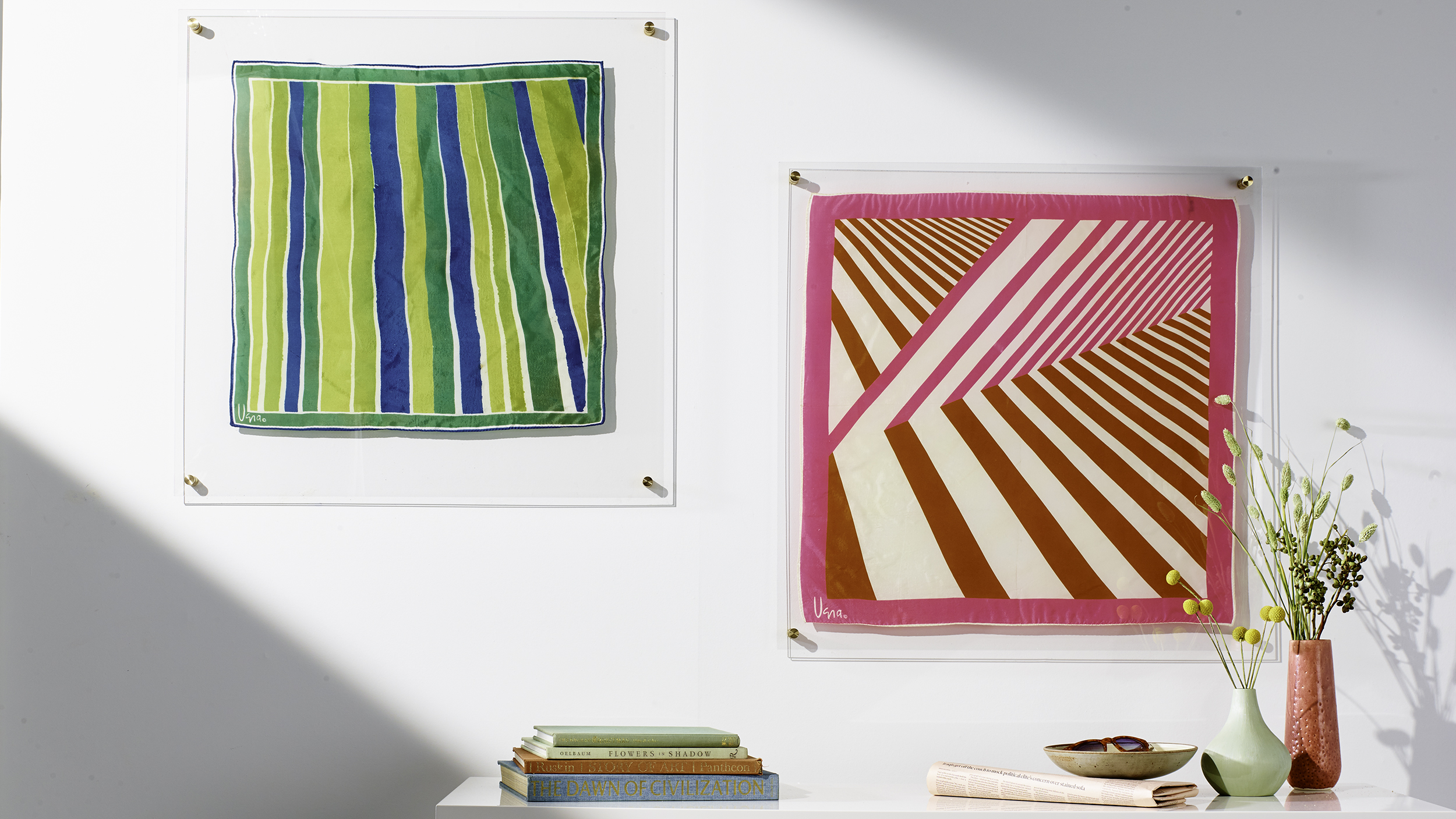 How To Decorate With Wall Art: How To Create Beautiful Budget Art From Your Closet