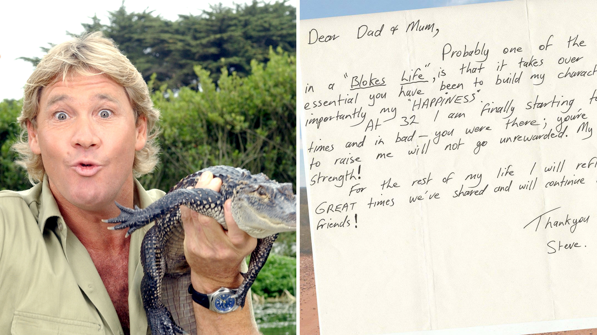 Ina Chicken See Steve Irwin S Heartfelt Letter To Parents My Love