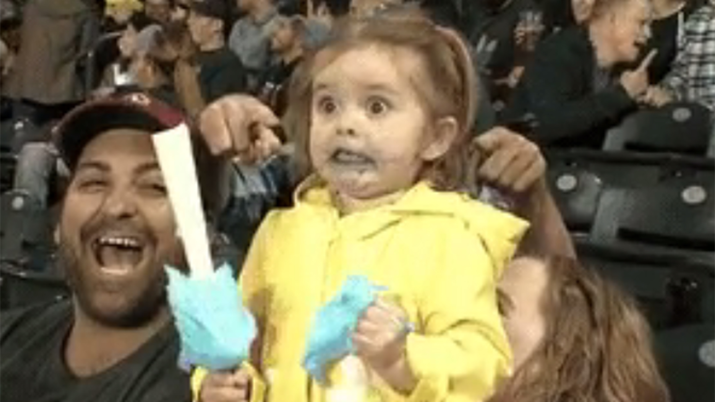 Watch this adorable little girl freak out on cotton candy ...
