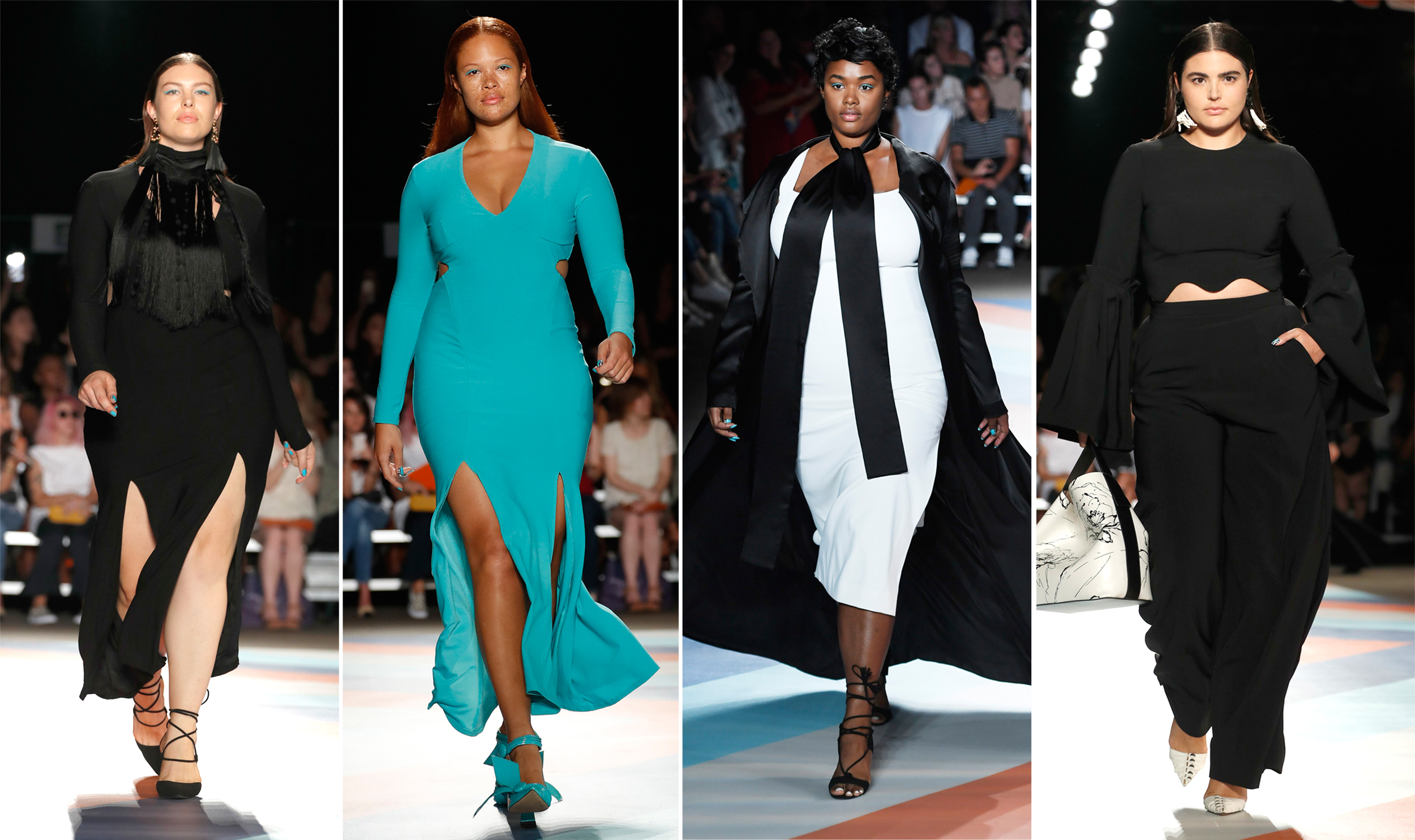 christian siriano sends 5 plussize models down the runway