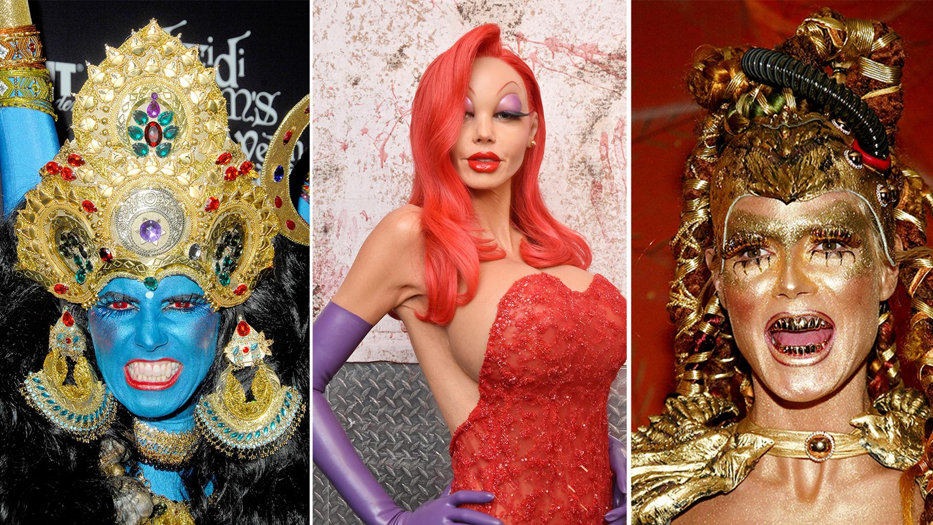Heidi Klum's best Halloween costumes: Jessica Rabbit, Kali and ...