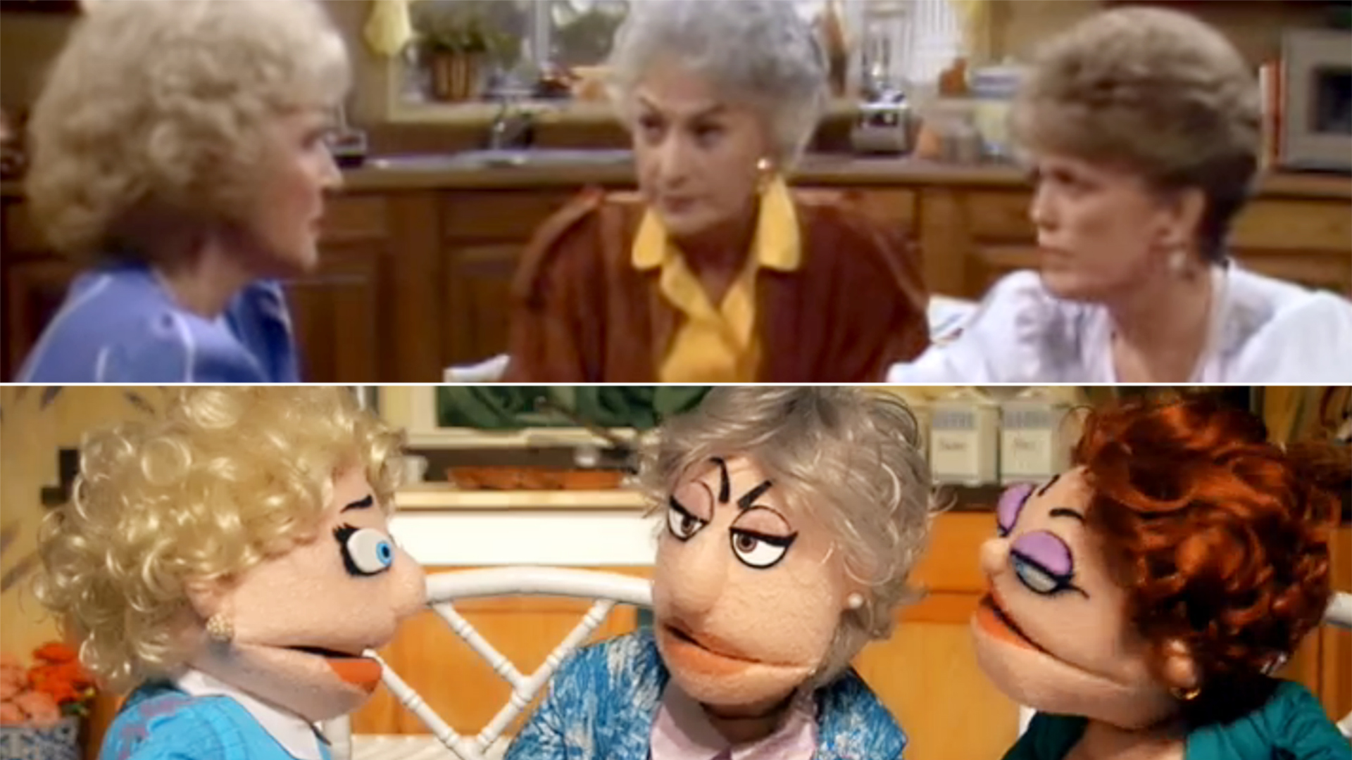 That Golden Girls Show Re Creates Rose Dorothy Sophia And Blanche With Puppets