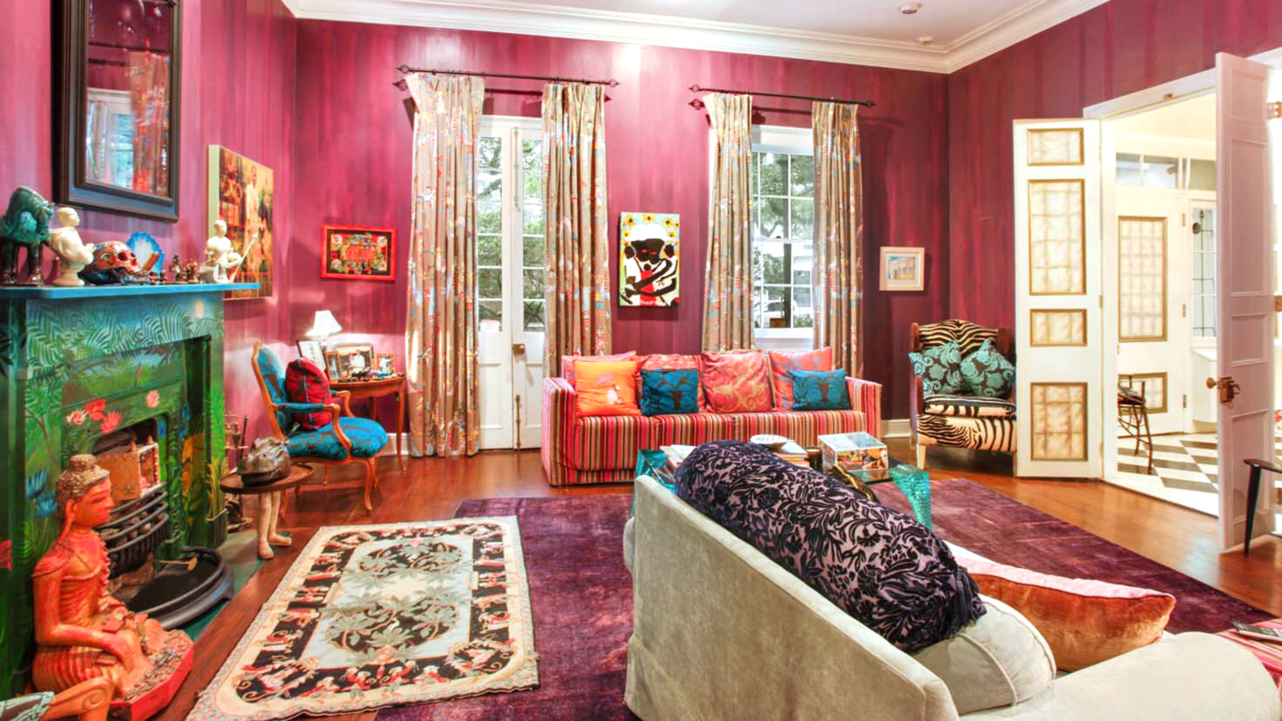 see inside this new orleans home that was painted by 27 artists
