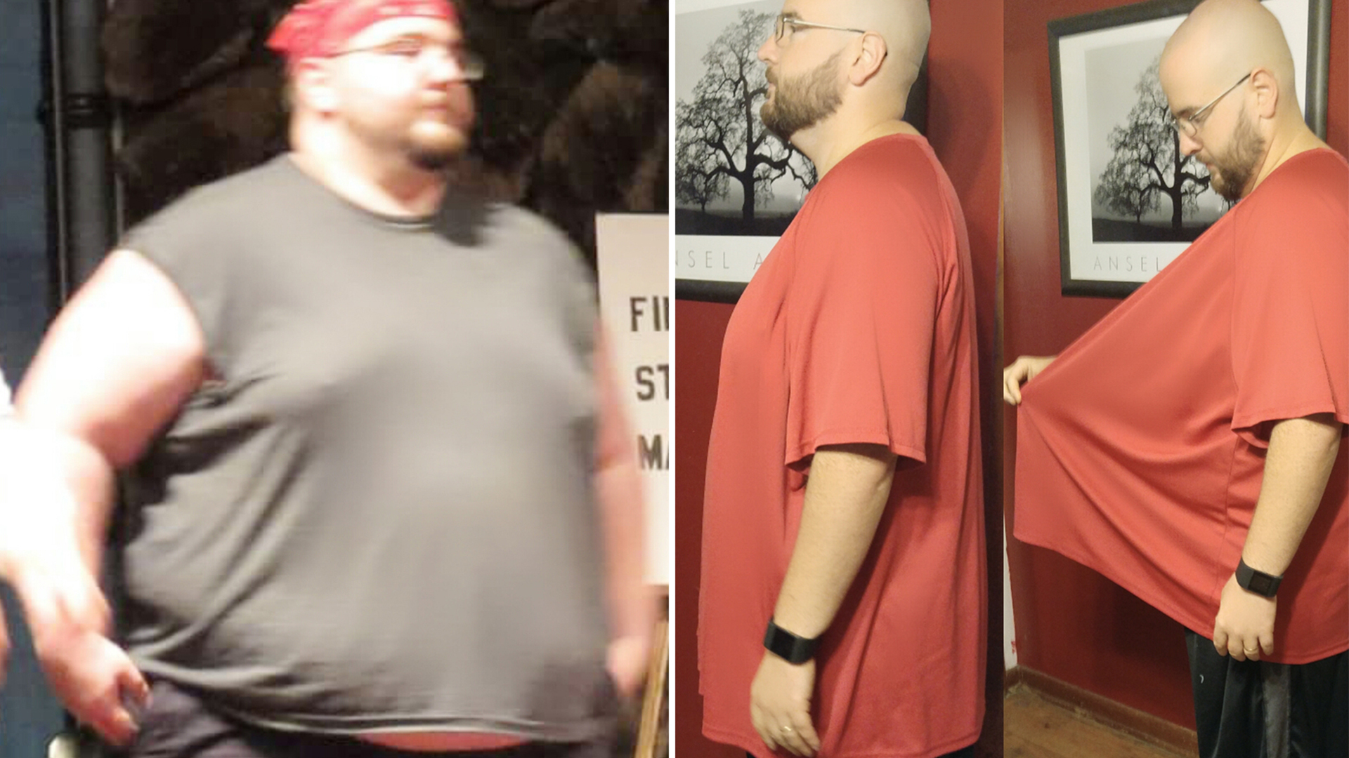 Weight loss clothing size changes