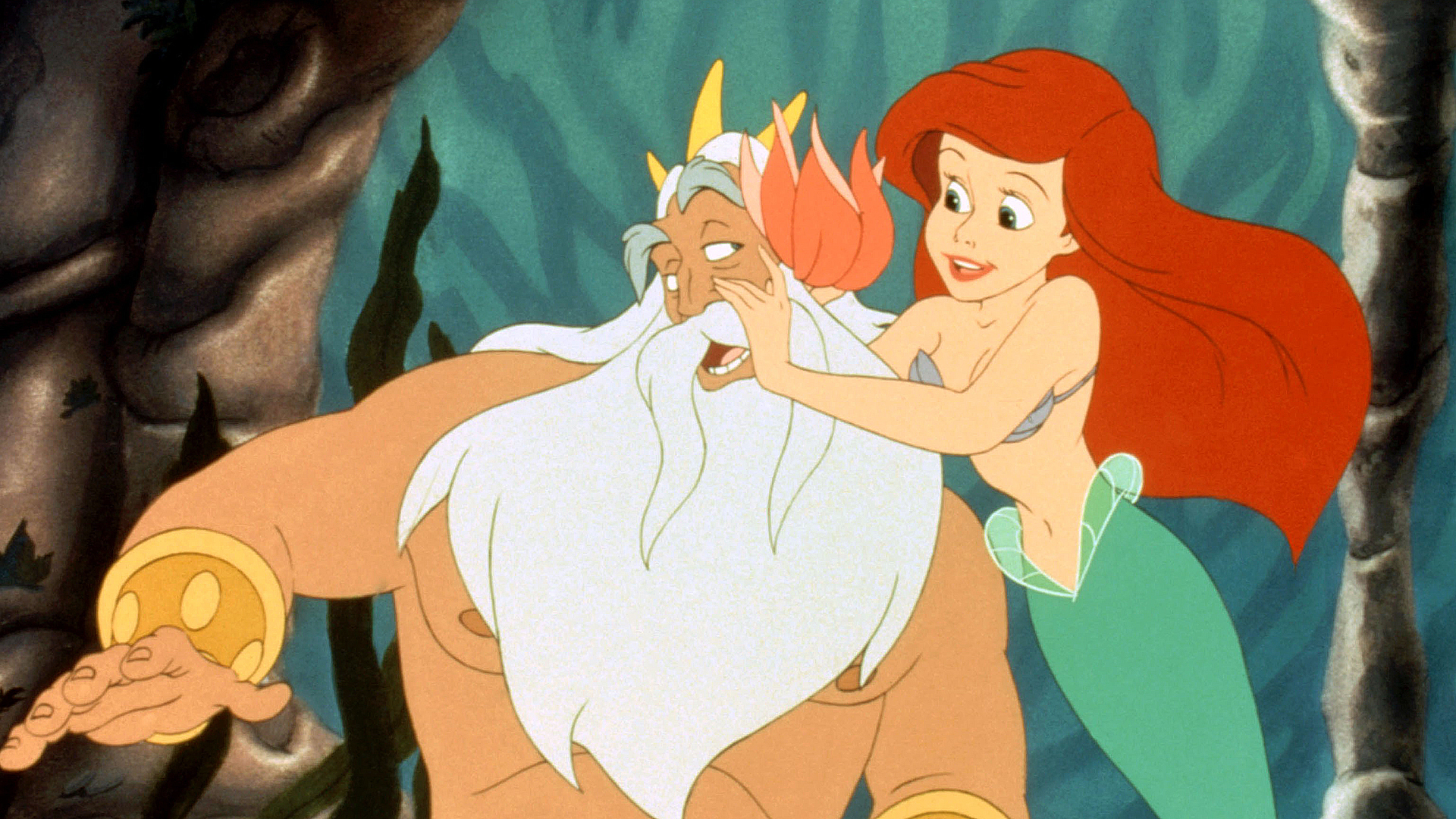 Мультфильм Нептун трахает свою внучку русалочку в анал