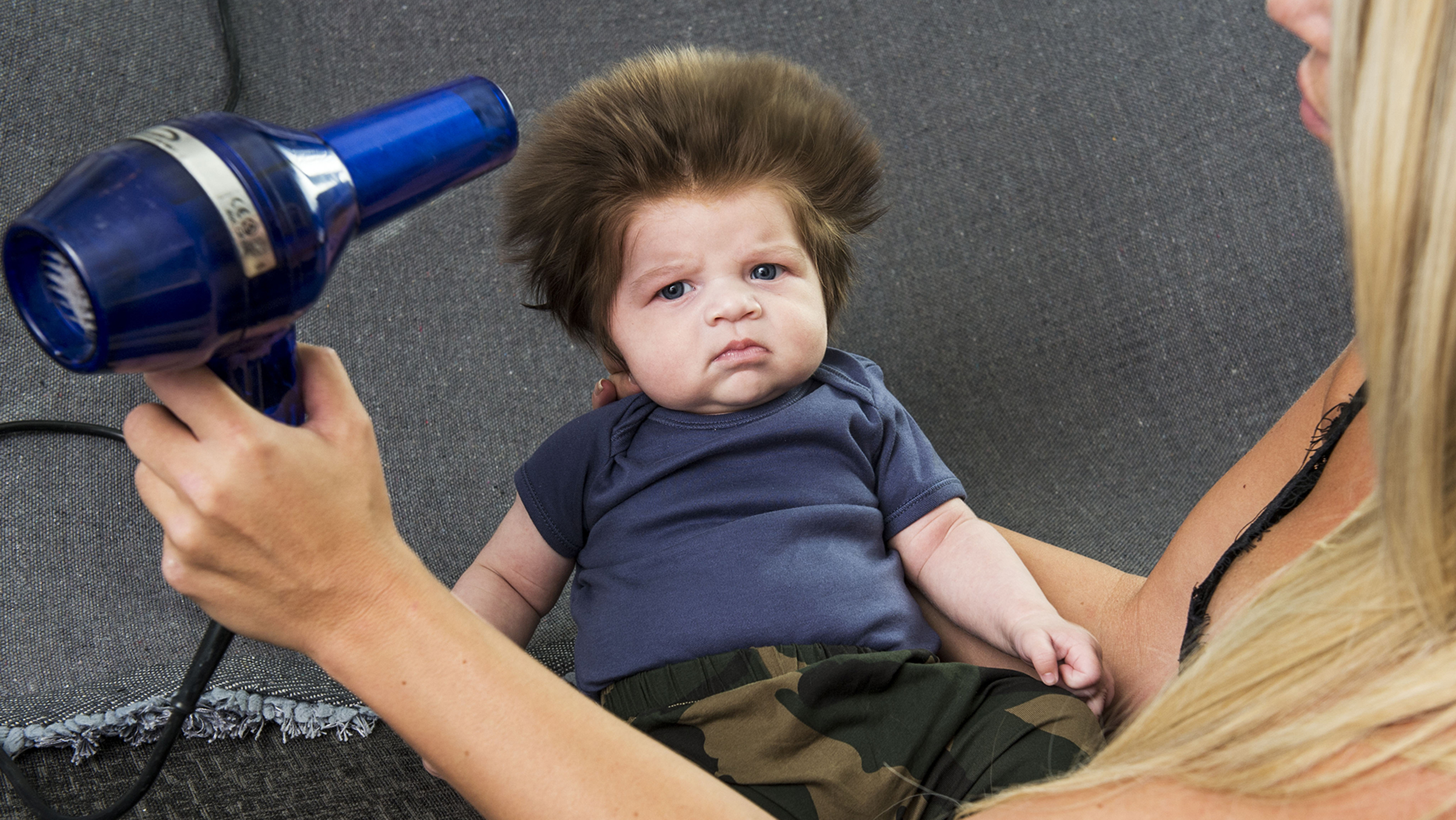 Meet The 9 Week Old Baby Whos Going Viral For His Full Head Of Hair