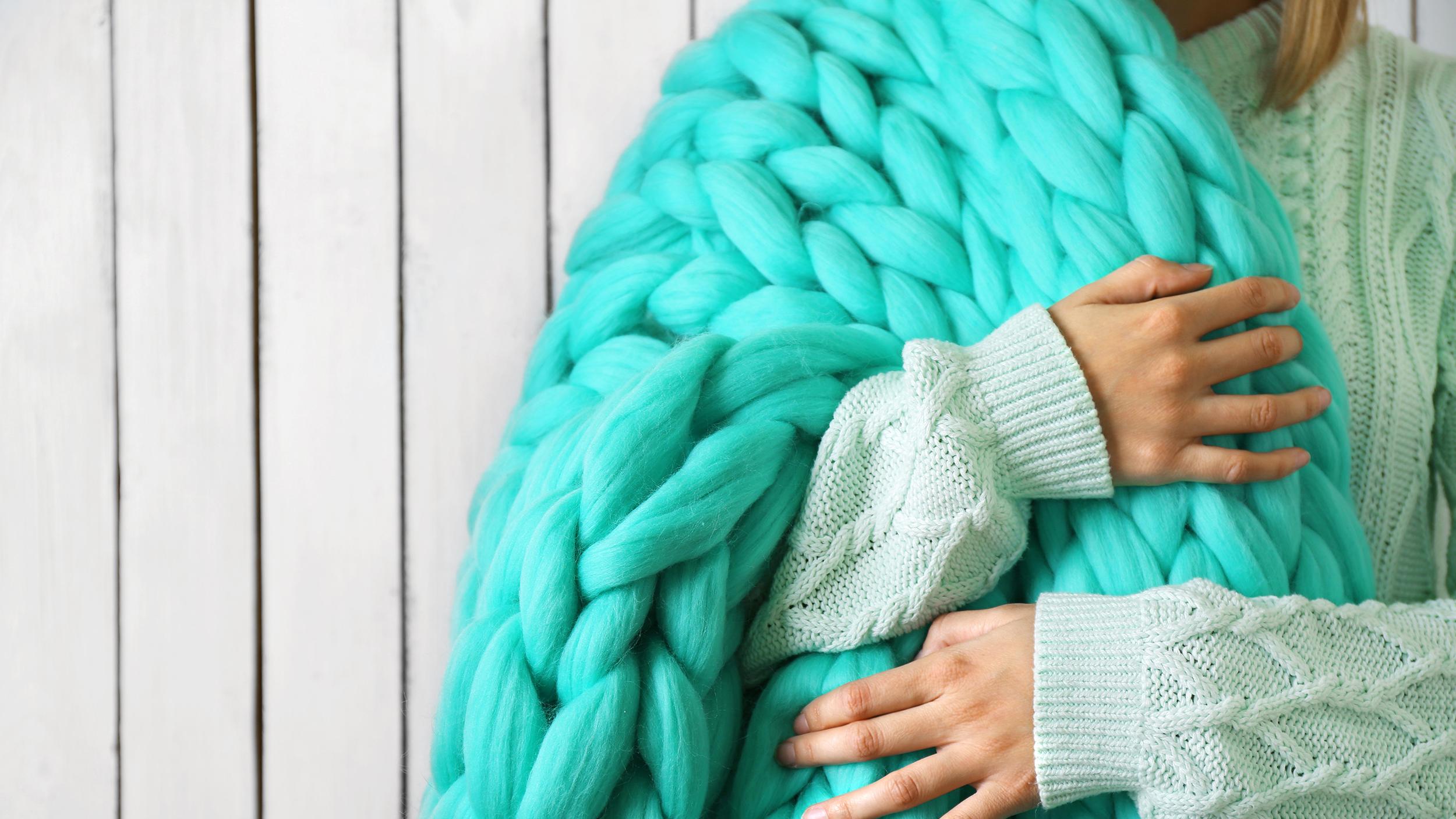 Oversized Knit Blanket Tutorial Today Com