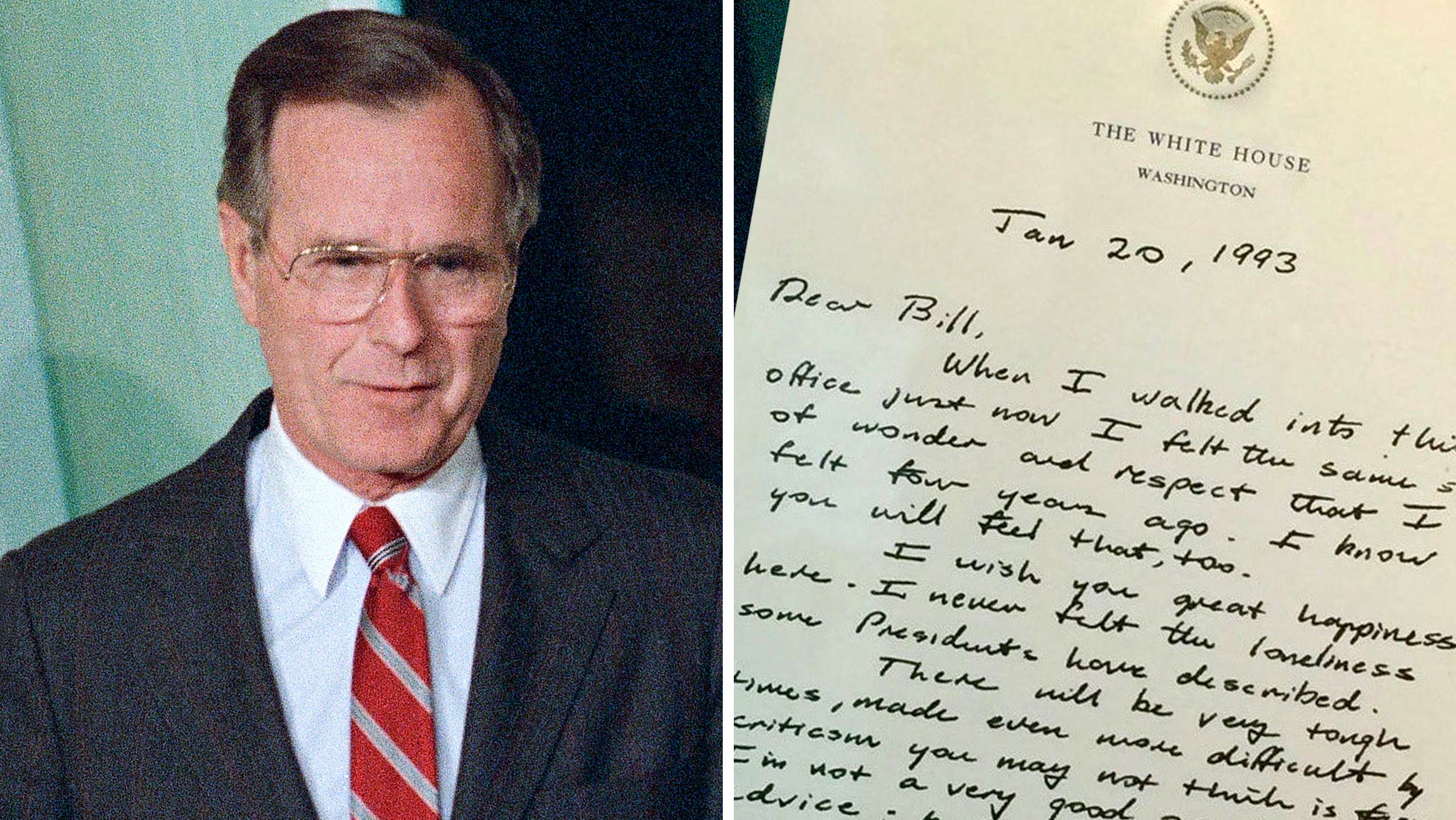 George Bush S Letter To Bill Clinton Is A Lesson In Dignity And Respect