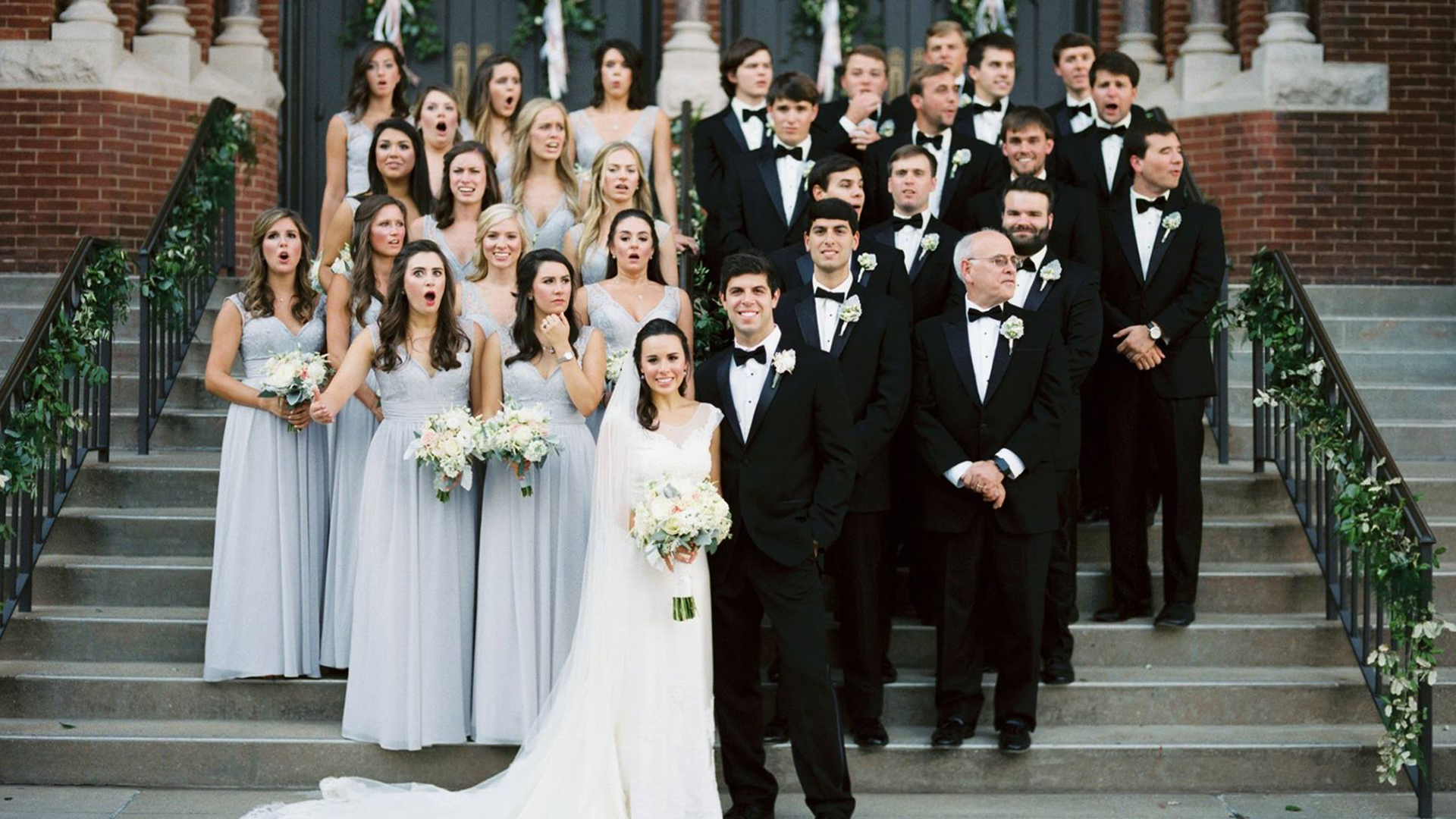 Watch Out Bridal Party Reacts To Photographer S Close