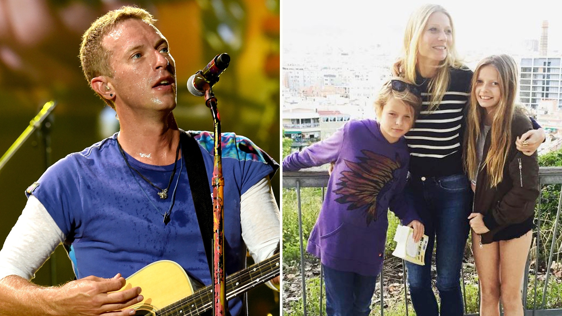 Chris Martin's kids, Apple and Moses, steal spotlight from ...