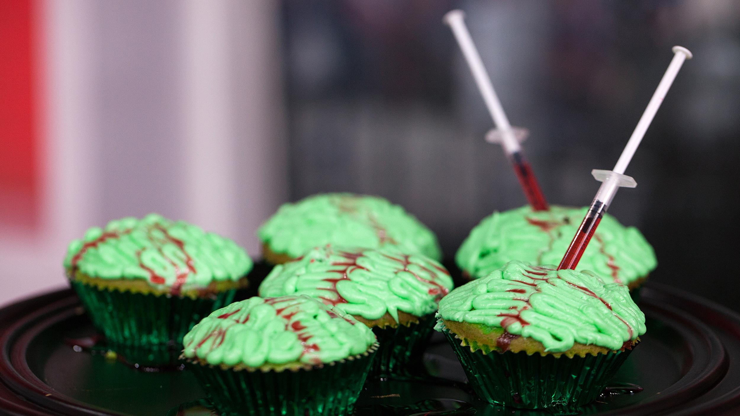 Zombie Brain Cupcakes Today Com