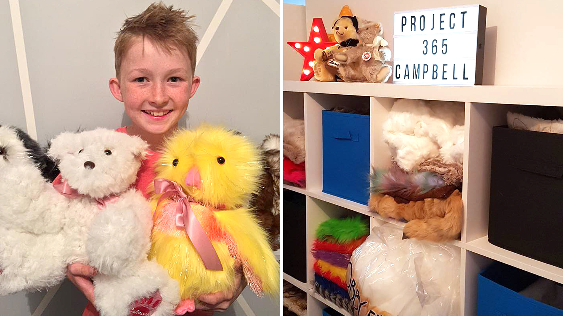 12 Year Old Makes 800 Stuffed Animals For Sick Kids
