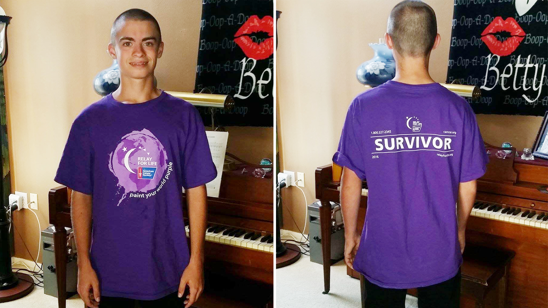 d49eb74c30d80 Teen s Relay for Life  survivor  T-shirt is cause for dress code violation