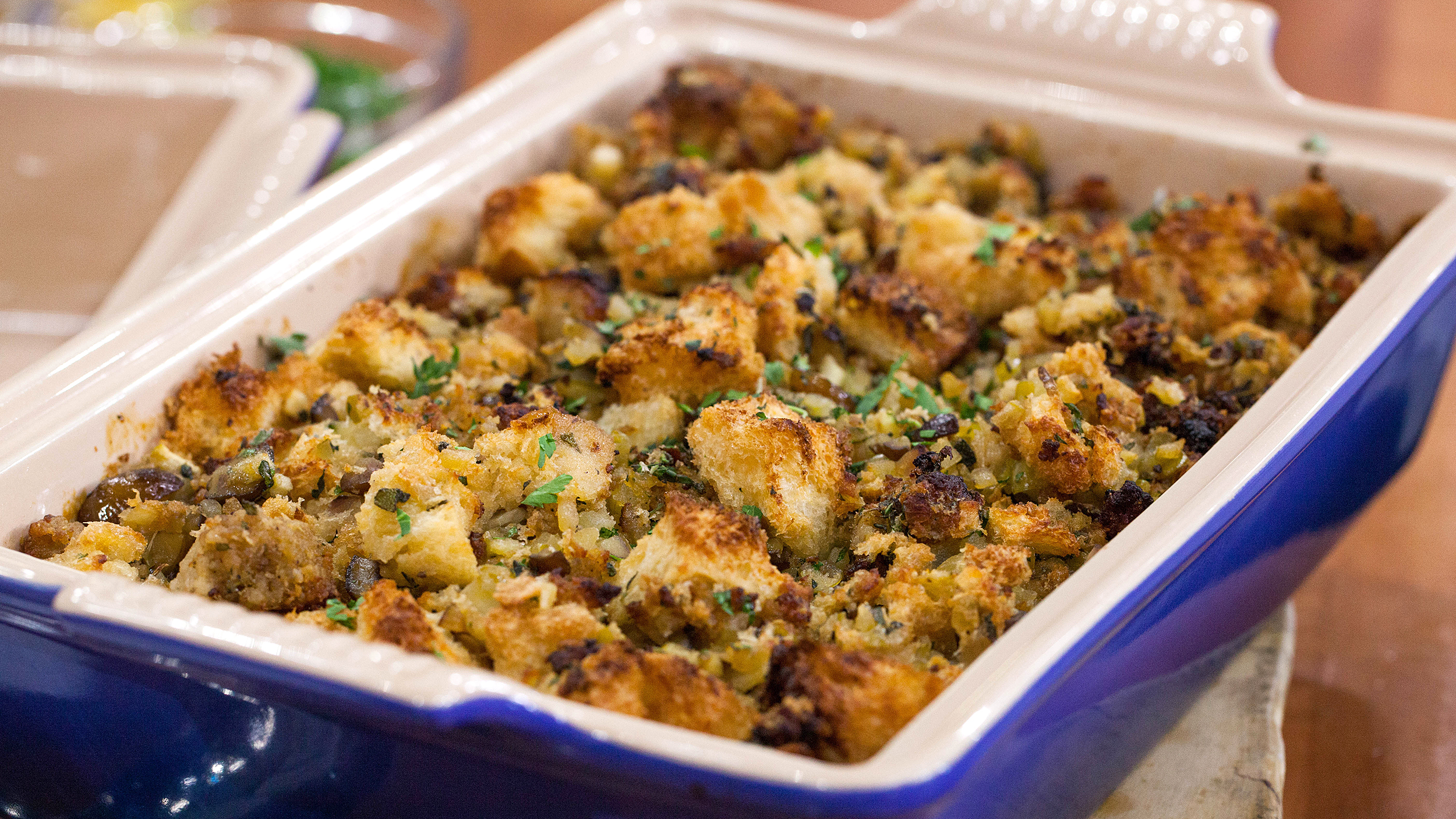 Cornbread, Sausage, and Chestnut Stuffing