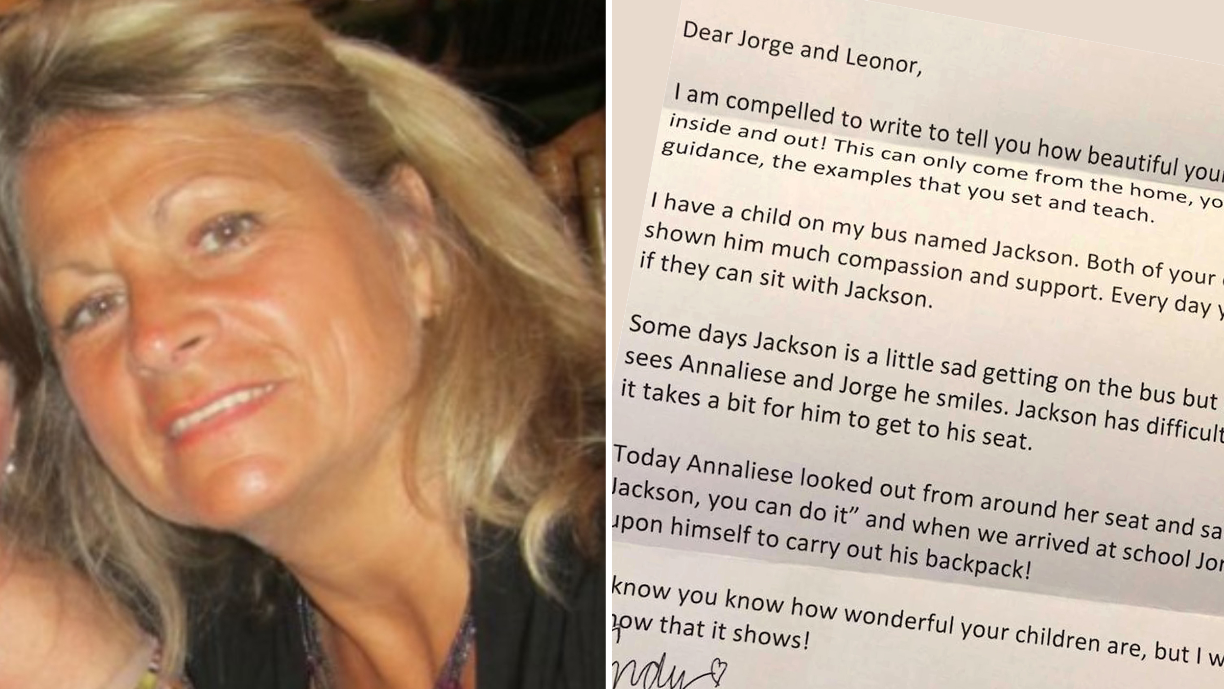 Bus driver writes note to parents: 'Your children are beautiful inside and out'