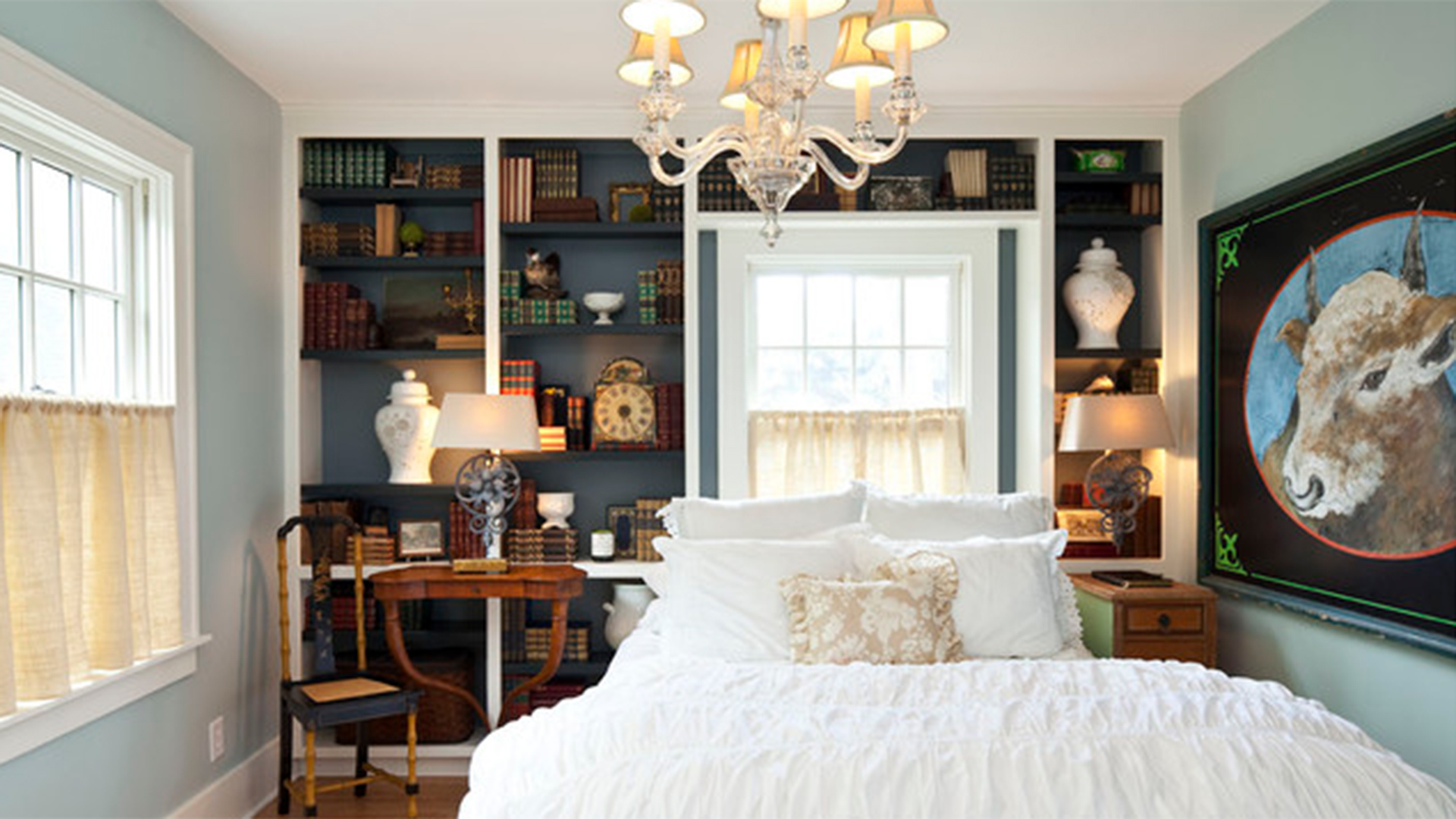 10 library and guest room combos we love. Black Bedroom Furniture Sets. Home Design Ideas