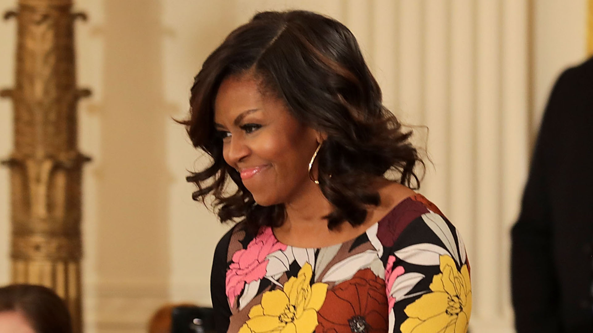 Michelle Obama Shows Off Lob Haircut At White House Event