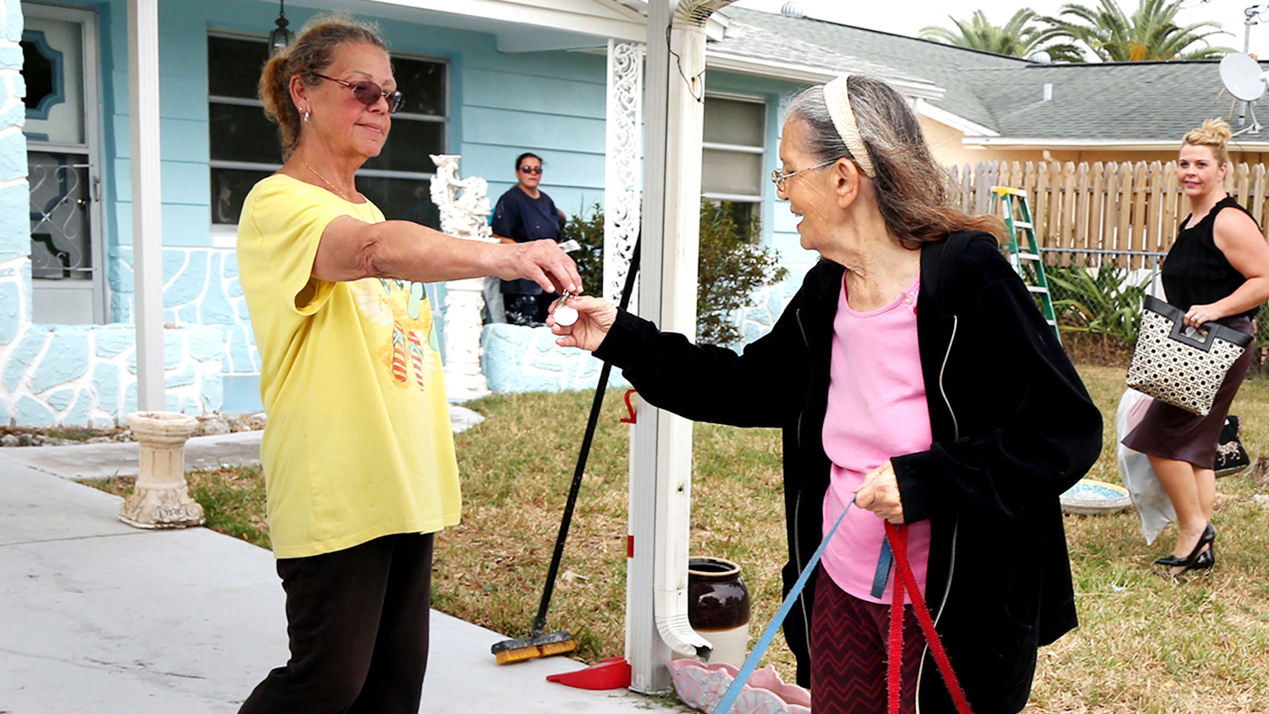 After 89-year-old woman is evicted, neighbor buys back her home