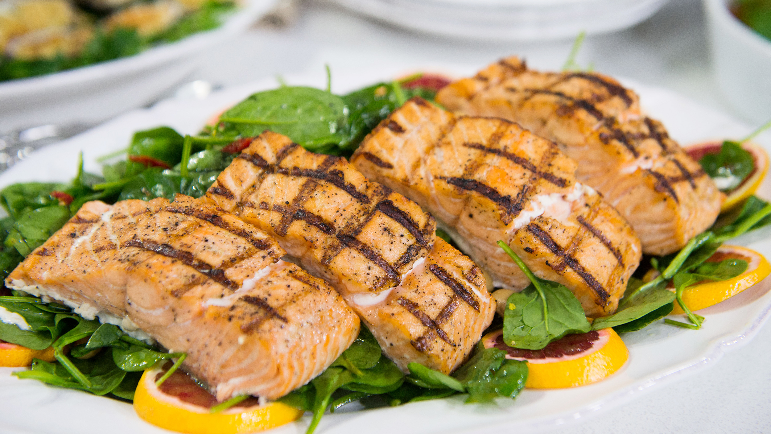 Hypertension 5 foods that can help to lower blood pressure grilled salmon with white bean and spinach salad forumfinder Choice Image