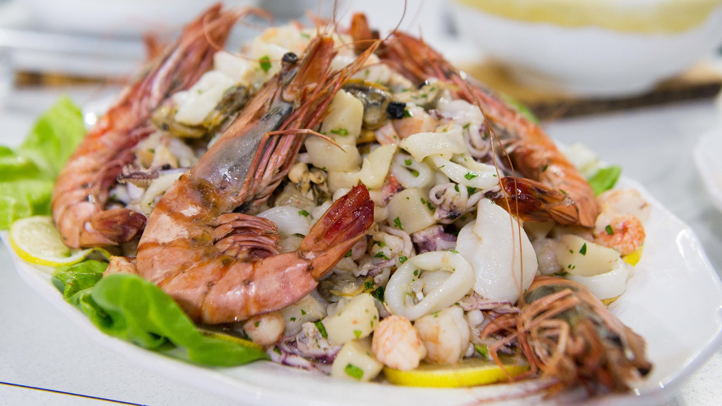 Italian seafood salad insalata di mare for What are the seven fishes