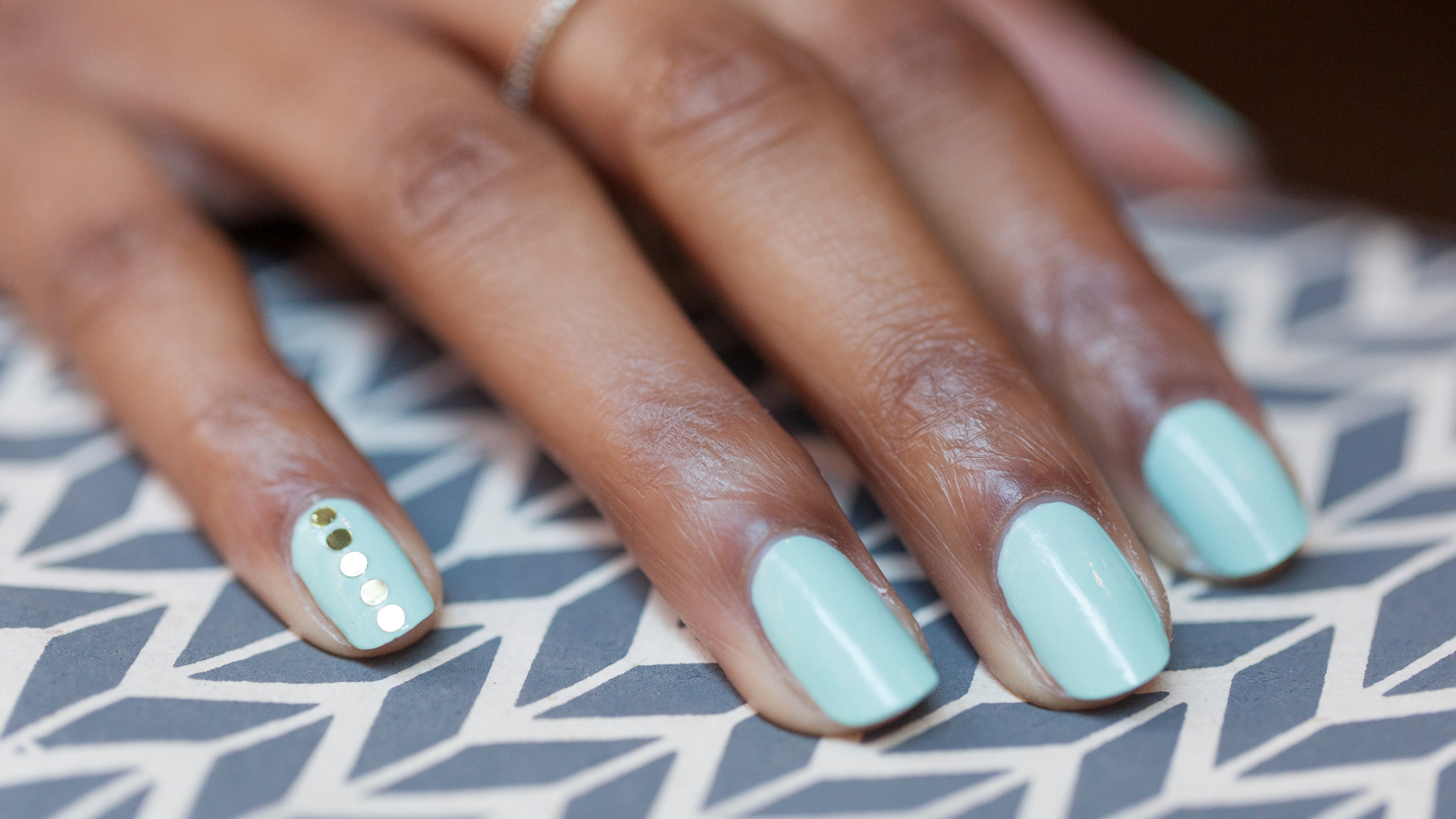 Bejeweled manicure nail art might be the easiest tutorial ever