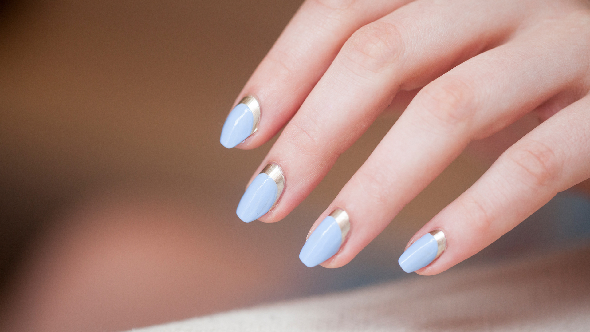 Reverse French Nail Design