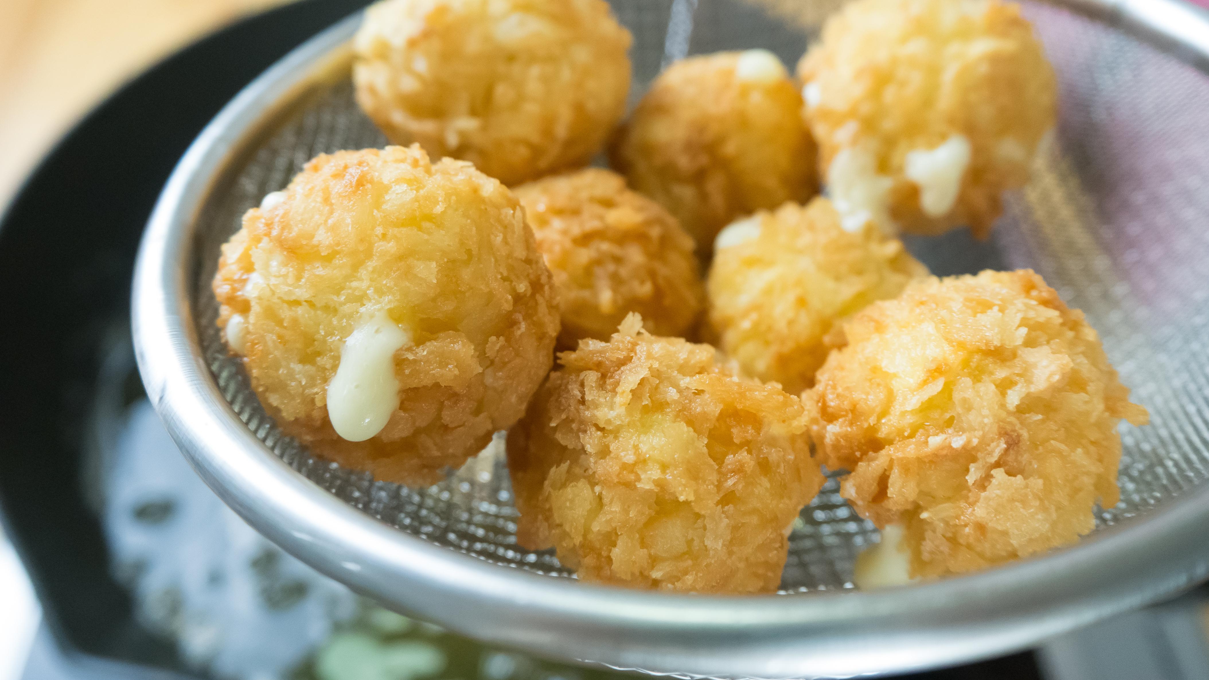 Cheese Stuffed Potato Puffs Today Com