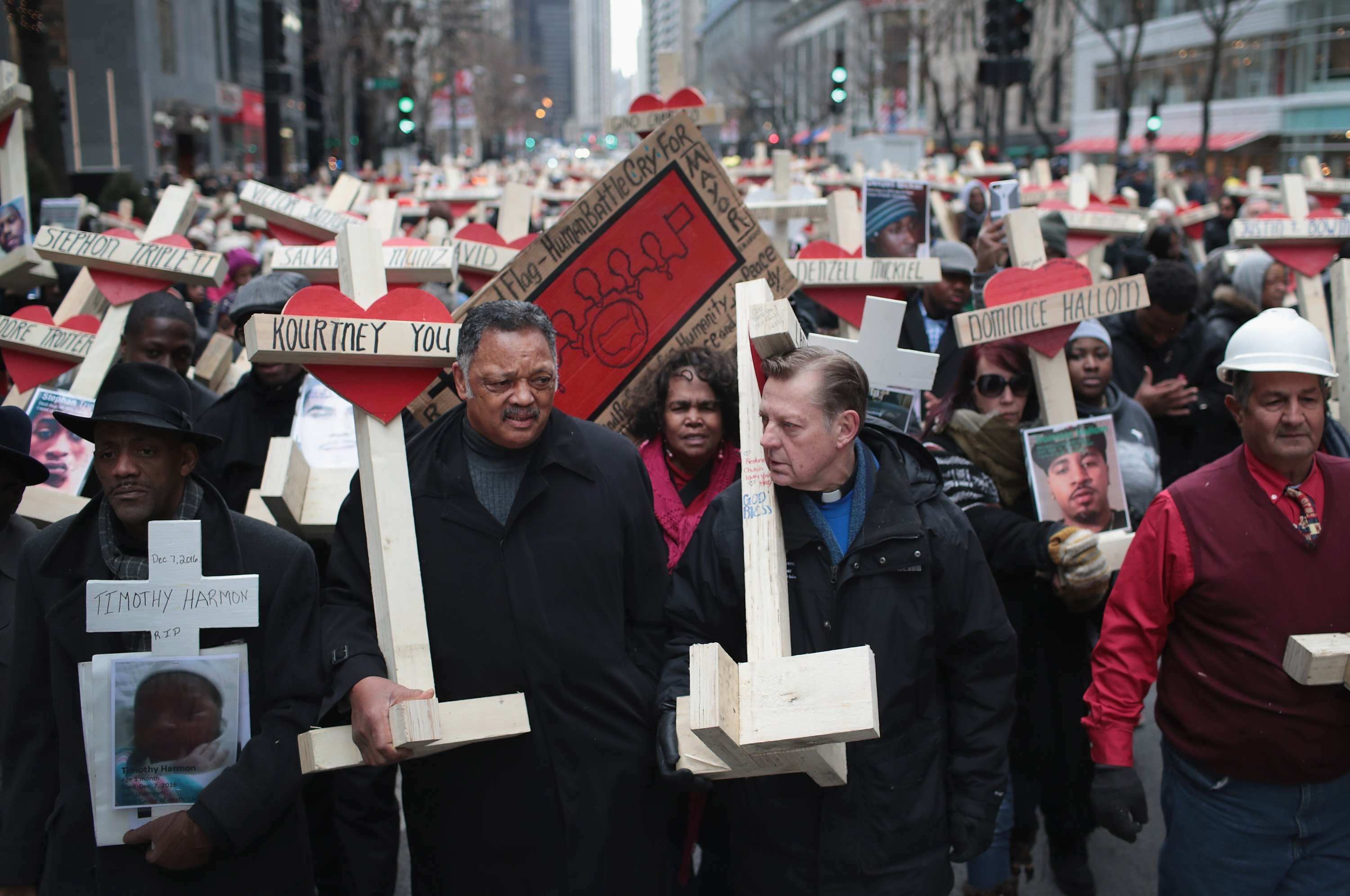 Image: Residents And Activists Hold Anti-Violence March After Deadly Year In Chicago