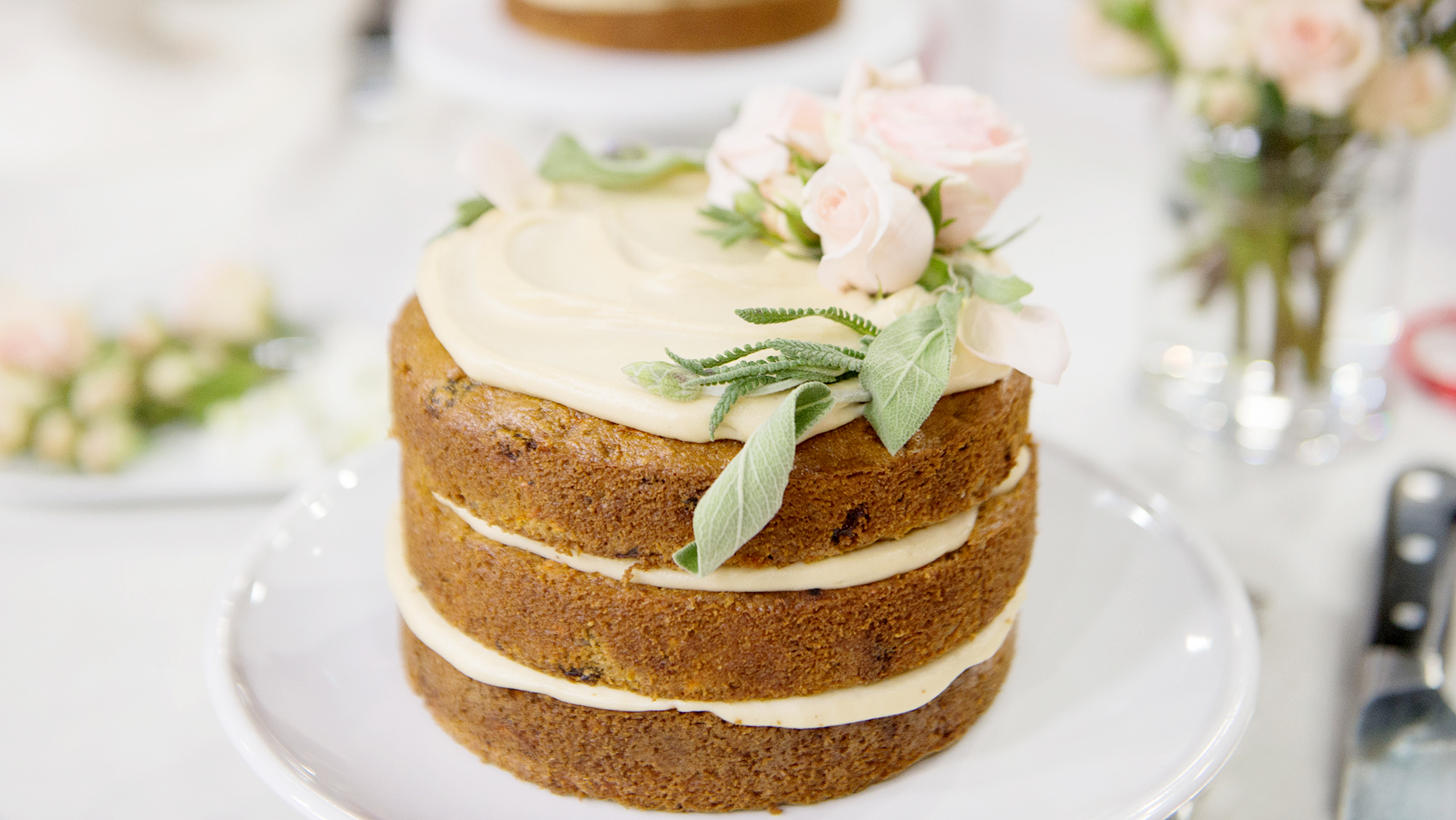 Gluten Free Carrot Cake With Vegan Cream Cheese Frosting Today Com
