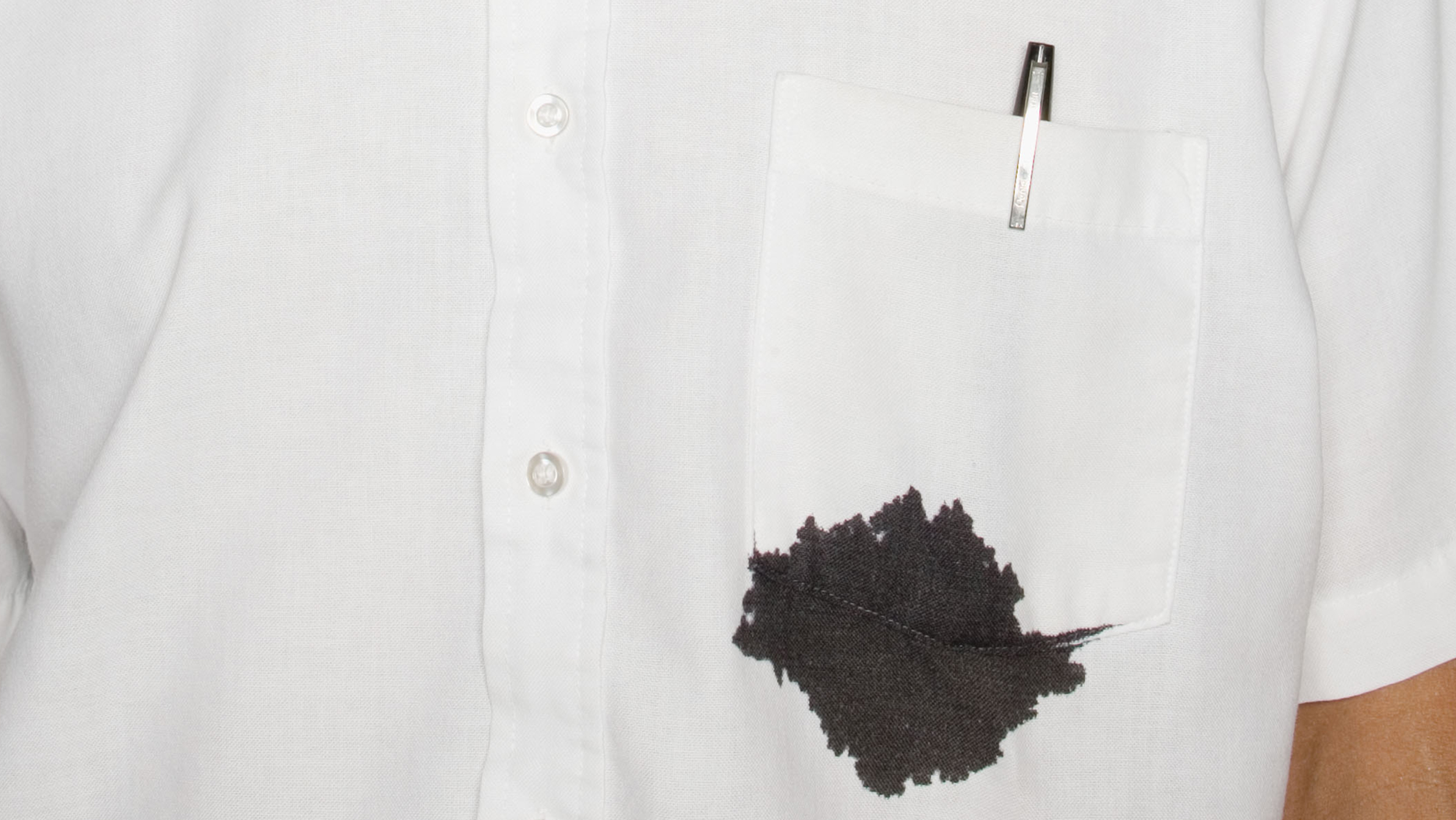 How to treat ink stains on your clothes and carpet for Remove pen stain from shirt