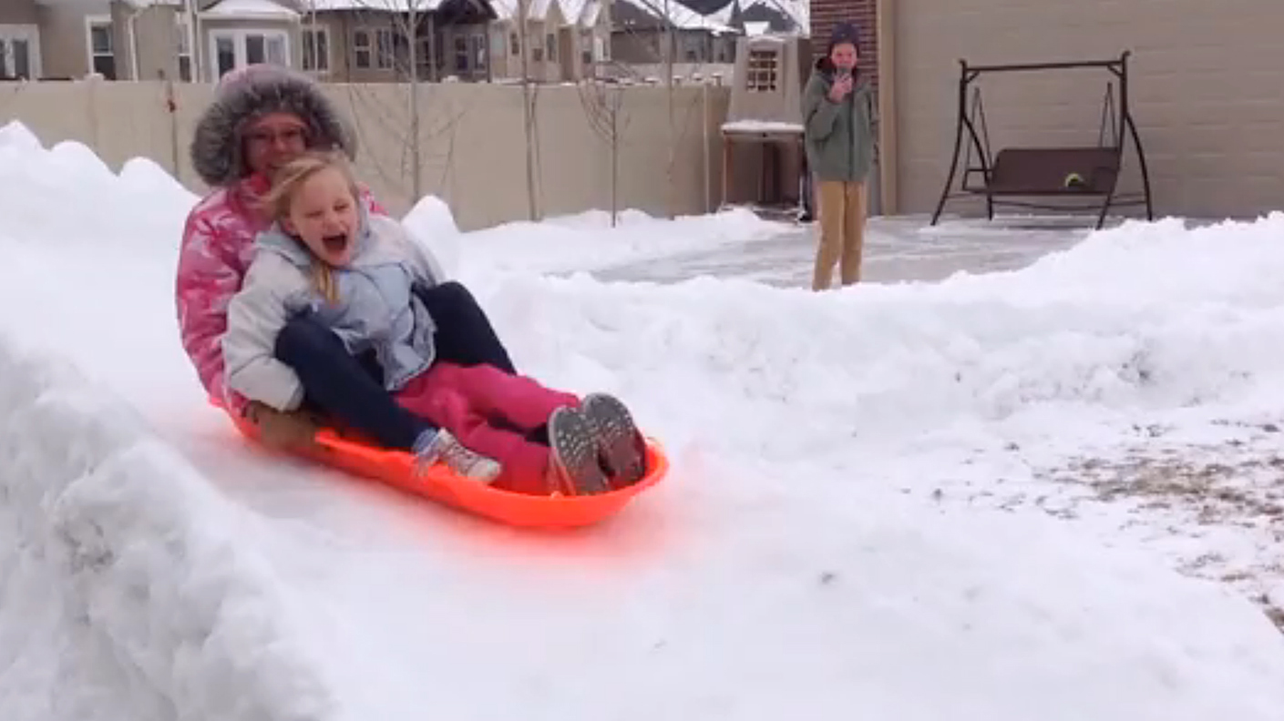 world 39 s greatest dad builds 300 foot luge run in backyard