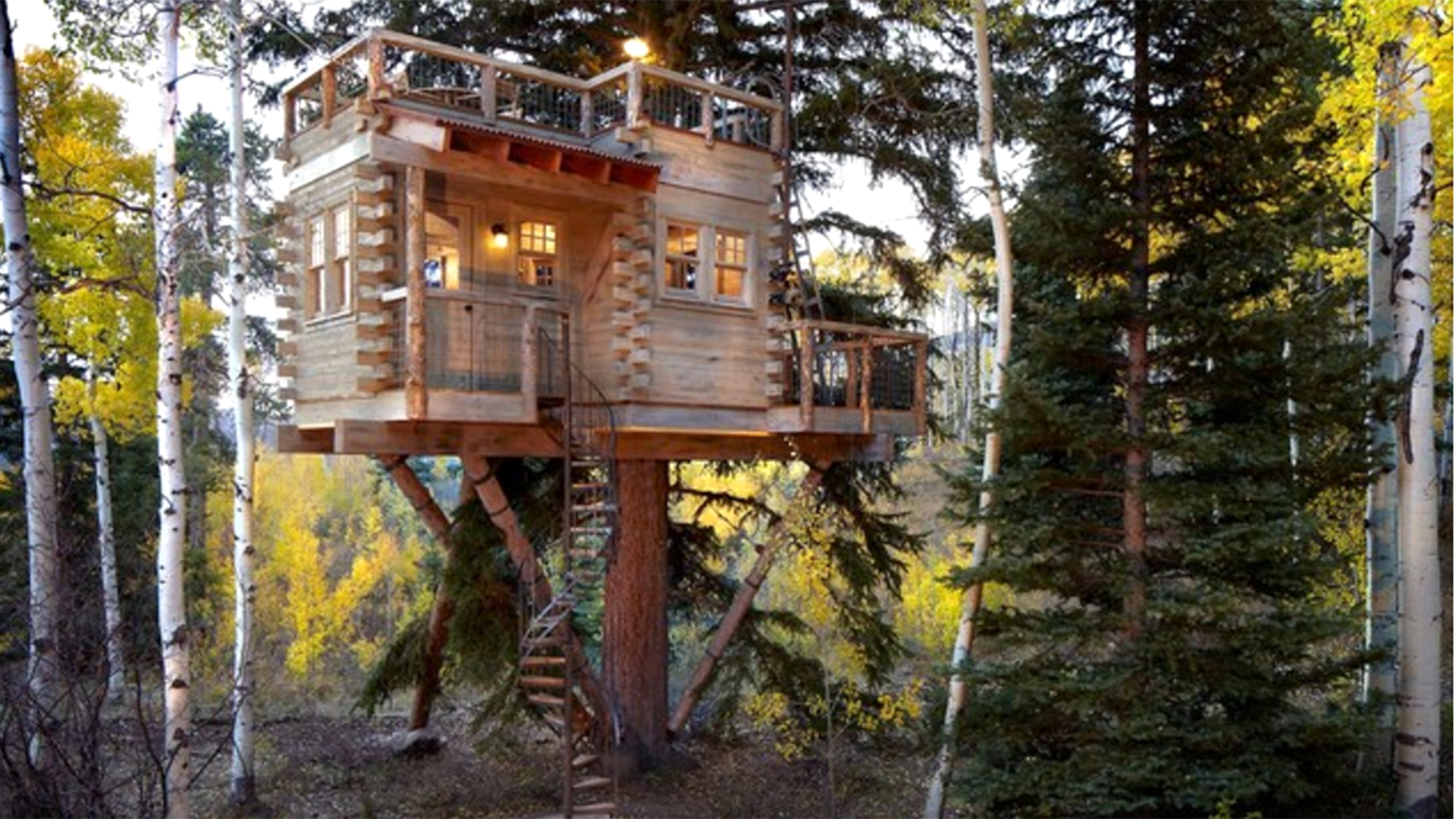 See inside the amazing colorado tree house with a kitchen for Amazing houses inside