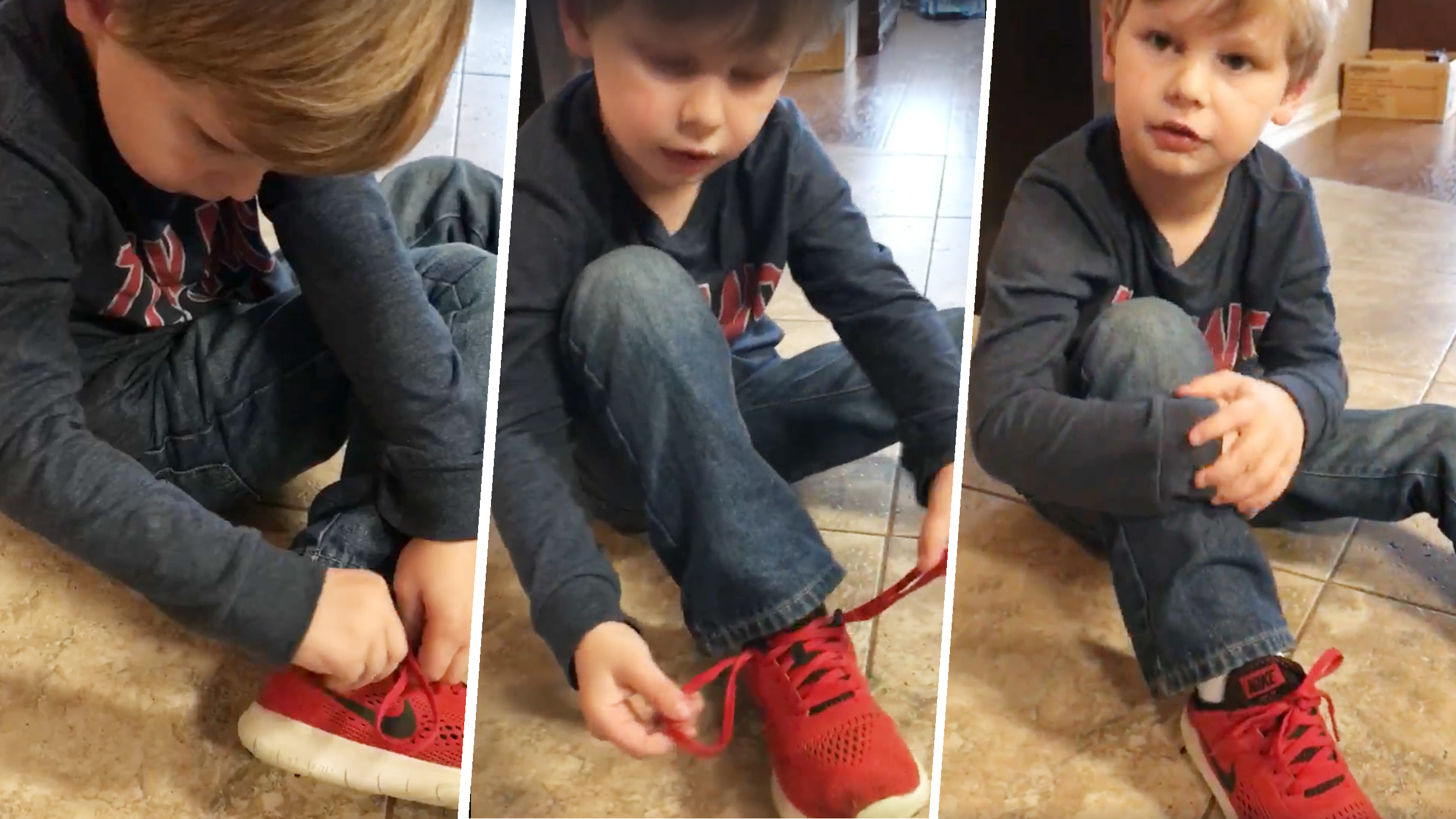 Tutorial For Kids Tying Shoes