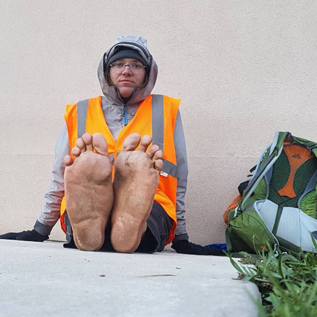 Environmental Activist Struck and Killed by SUV While Marching Barefoot Across America