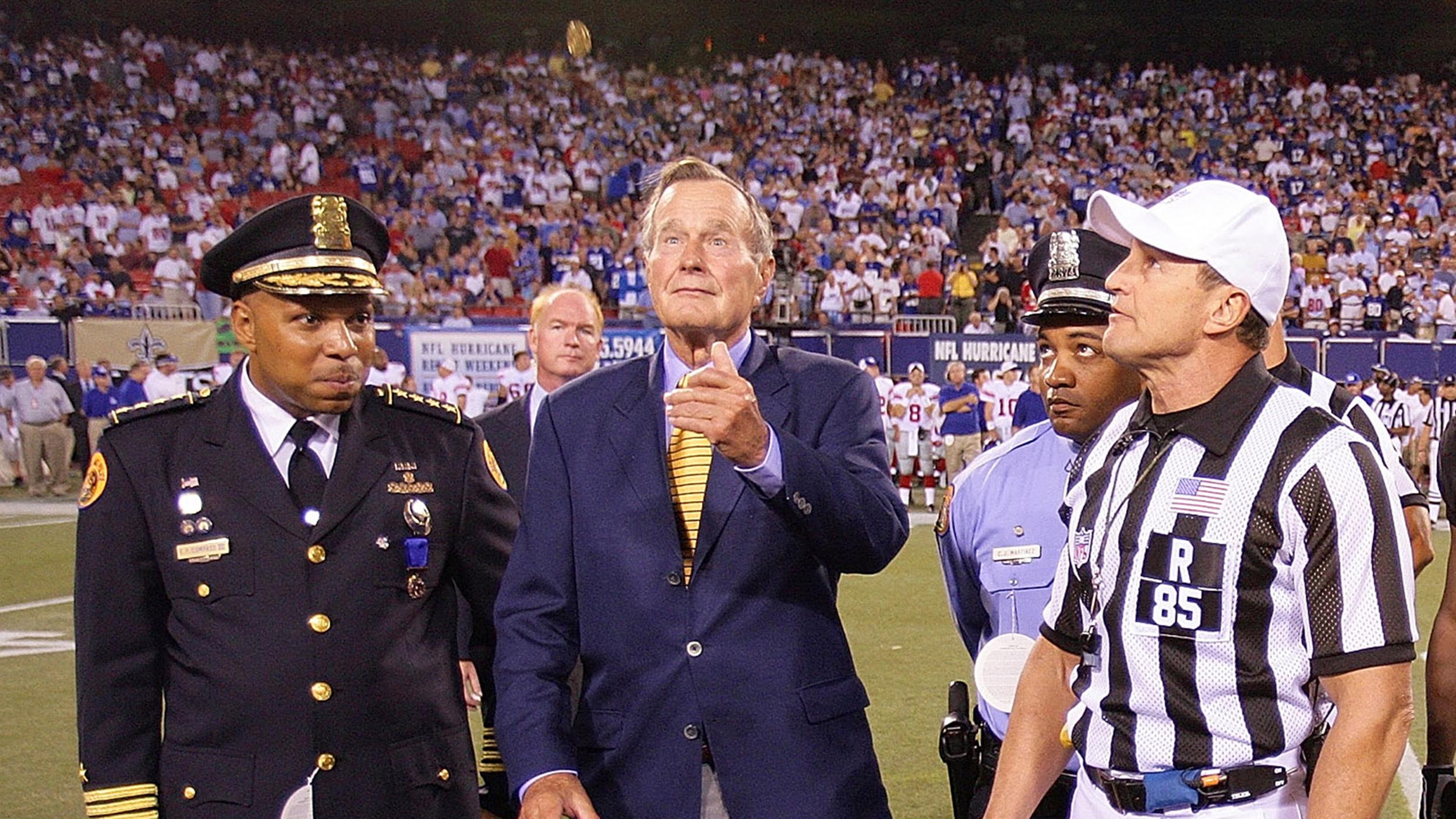 George H W Bush Barbara Bush Will Do Super Bowl Coin