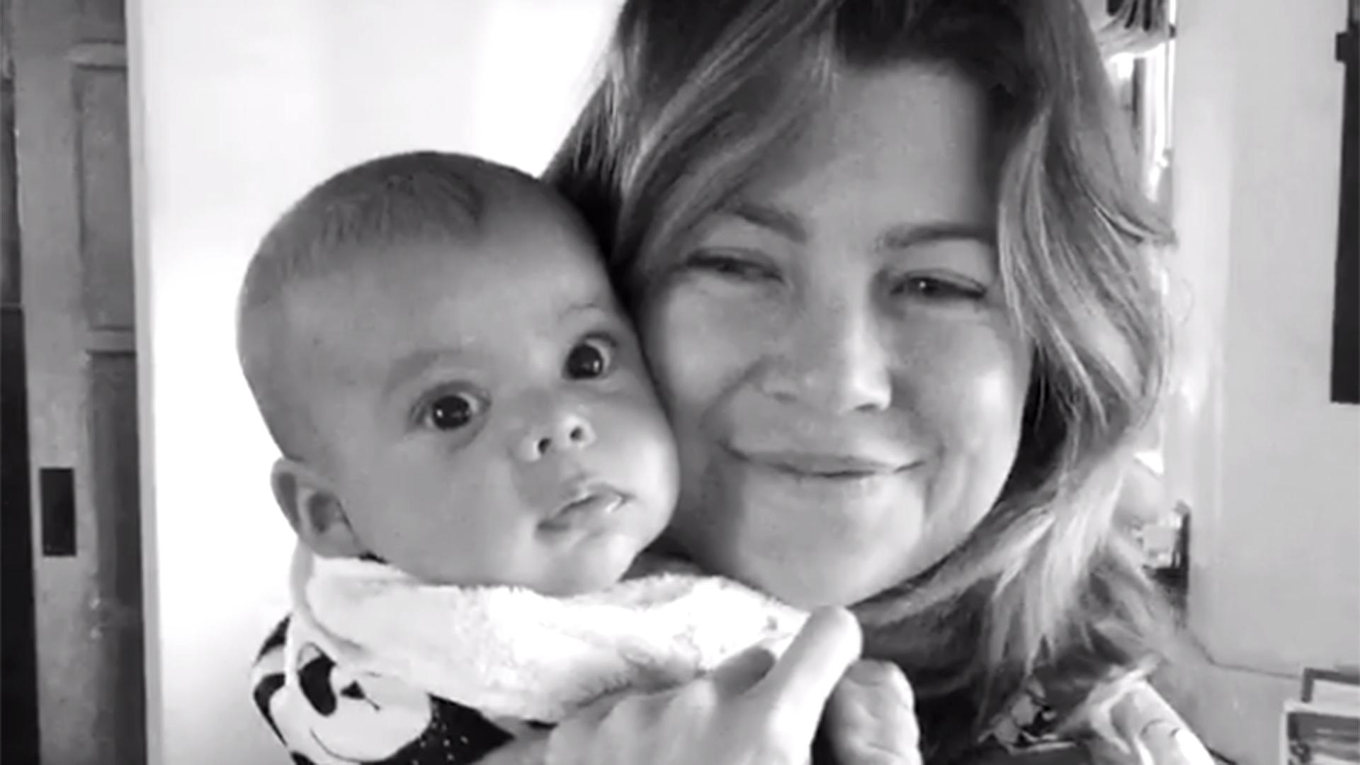 Ellen Pompeo Brings Her Baby To Work The Grey S Anatomy